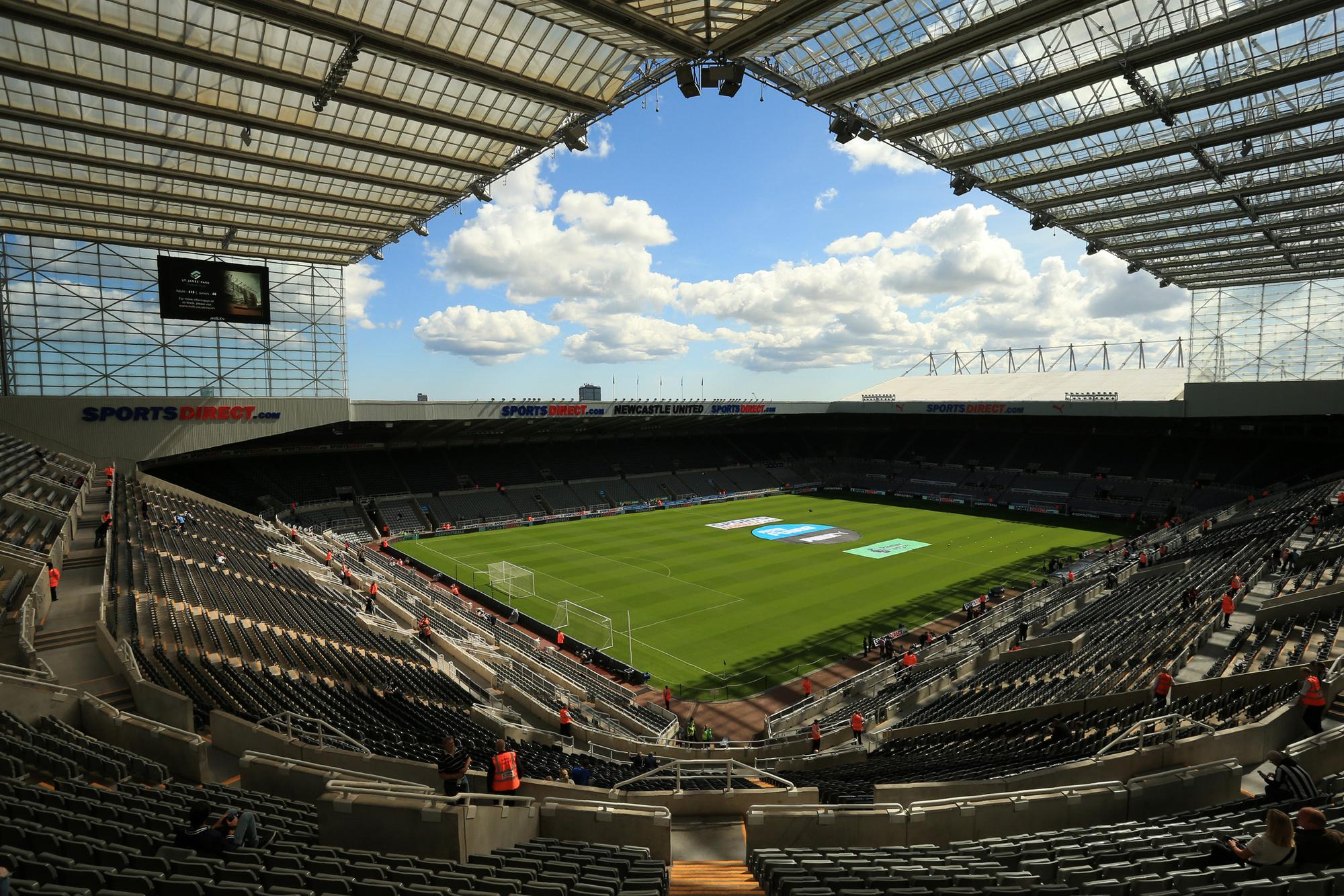 Newcastle is een slapende reus met dit St. James' Park dat plaats biedt aan 53.000 supporters., Belga Image