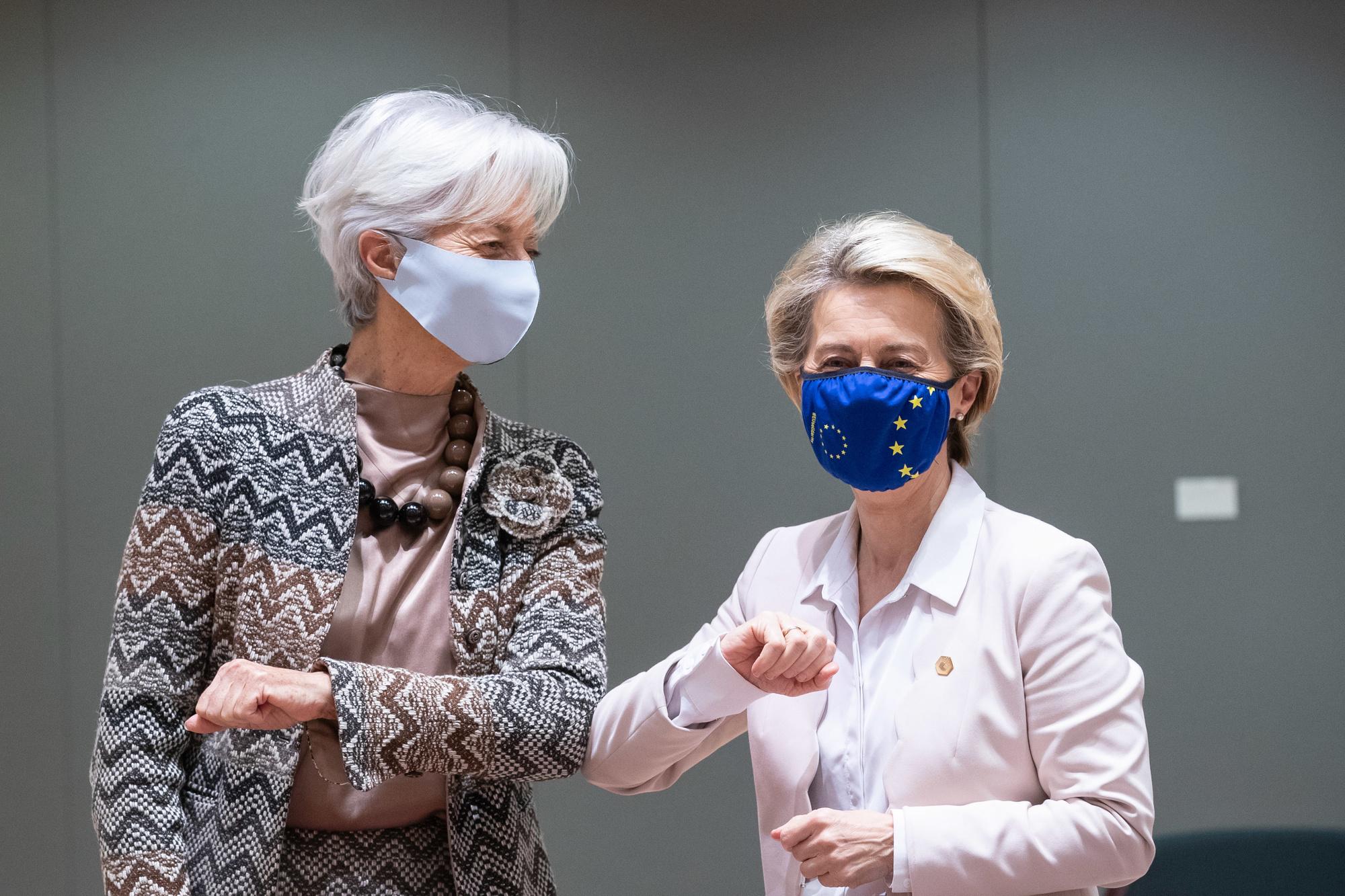 Christine Lagarde et Ursula von der Leyen, belgaimage