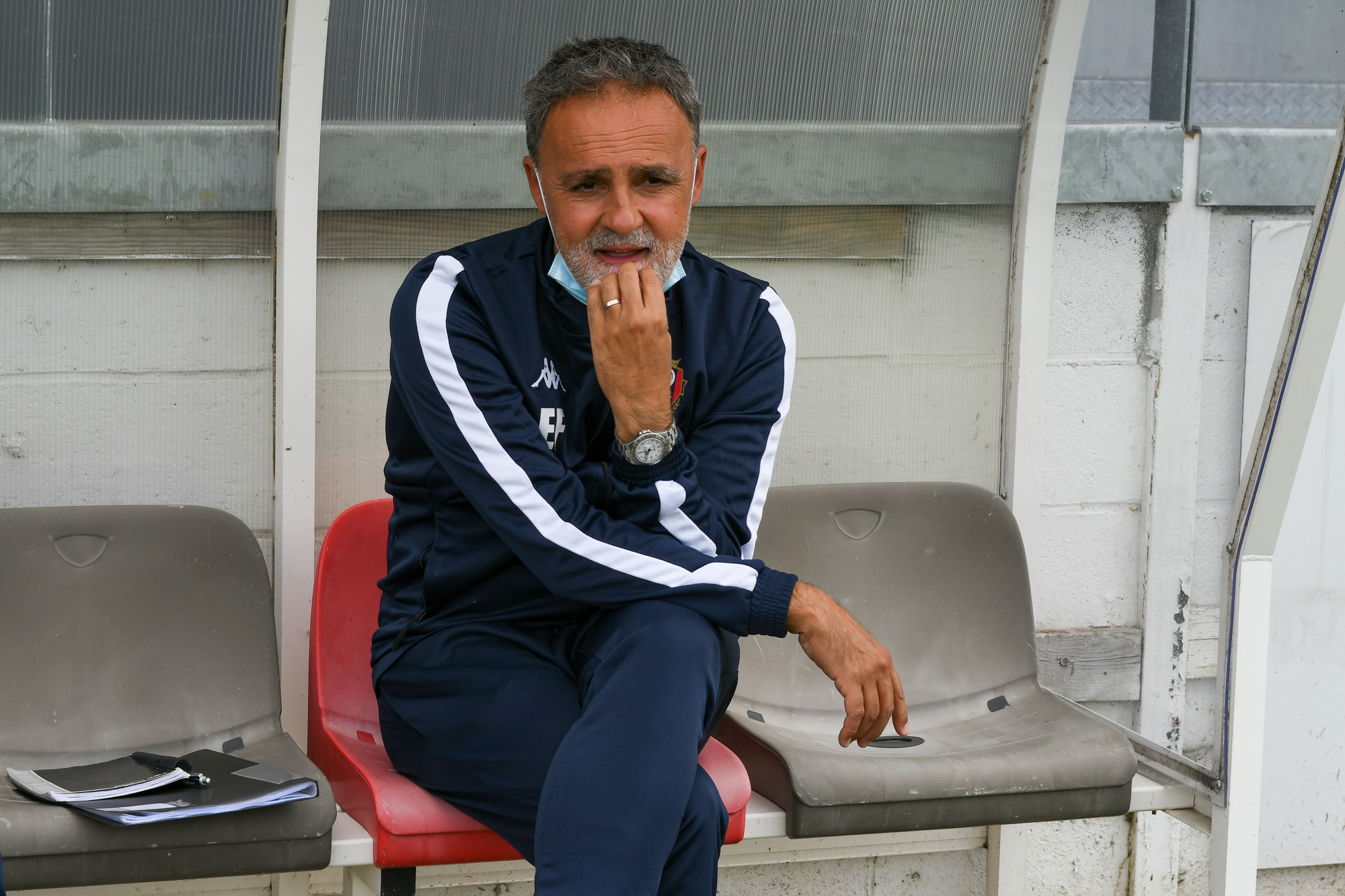 Emilio Ferrera, le coach de Seraing., belga