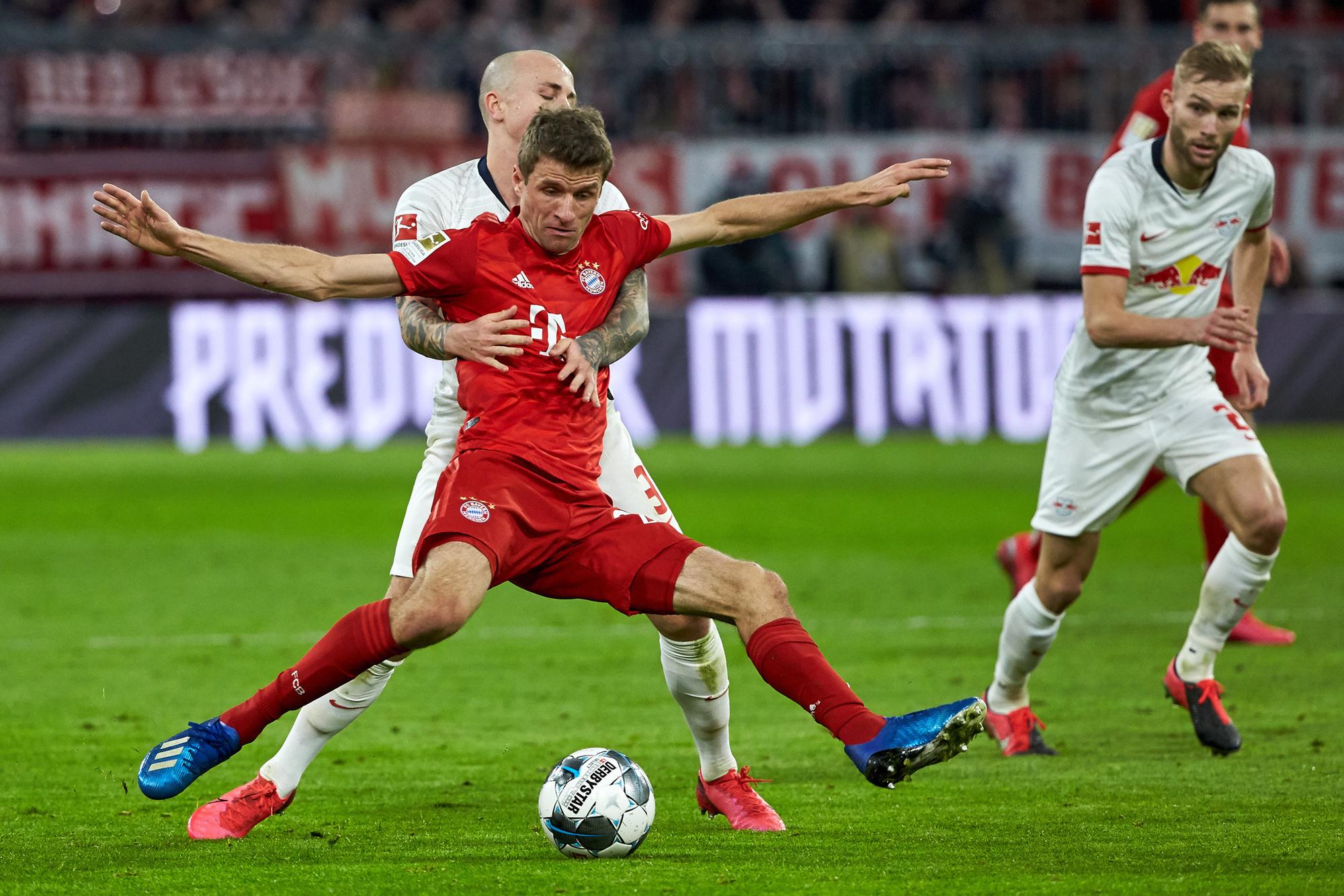 Leipzig was nergens te bespeuren tegen Bayern begin dit jaar., GETTY