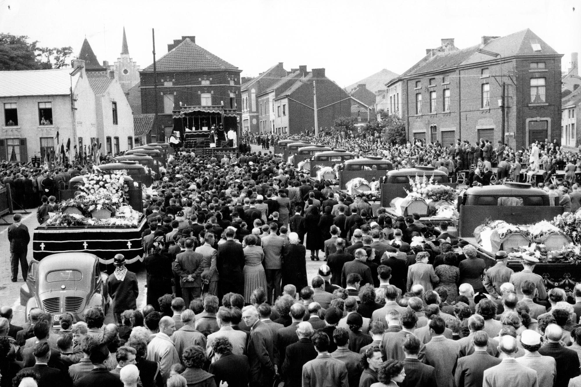 Bij de mijnramp van Marcinelles in 1956 stierven 256 mensen., Belga Image