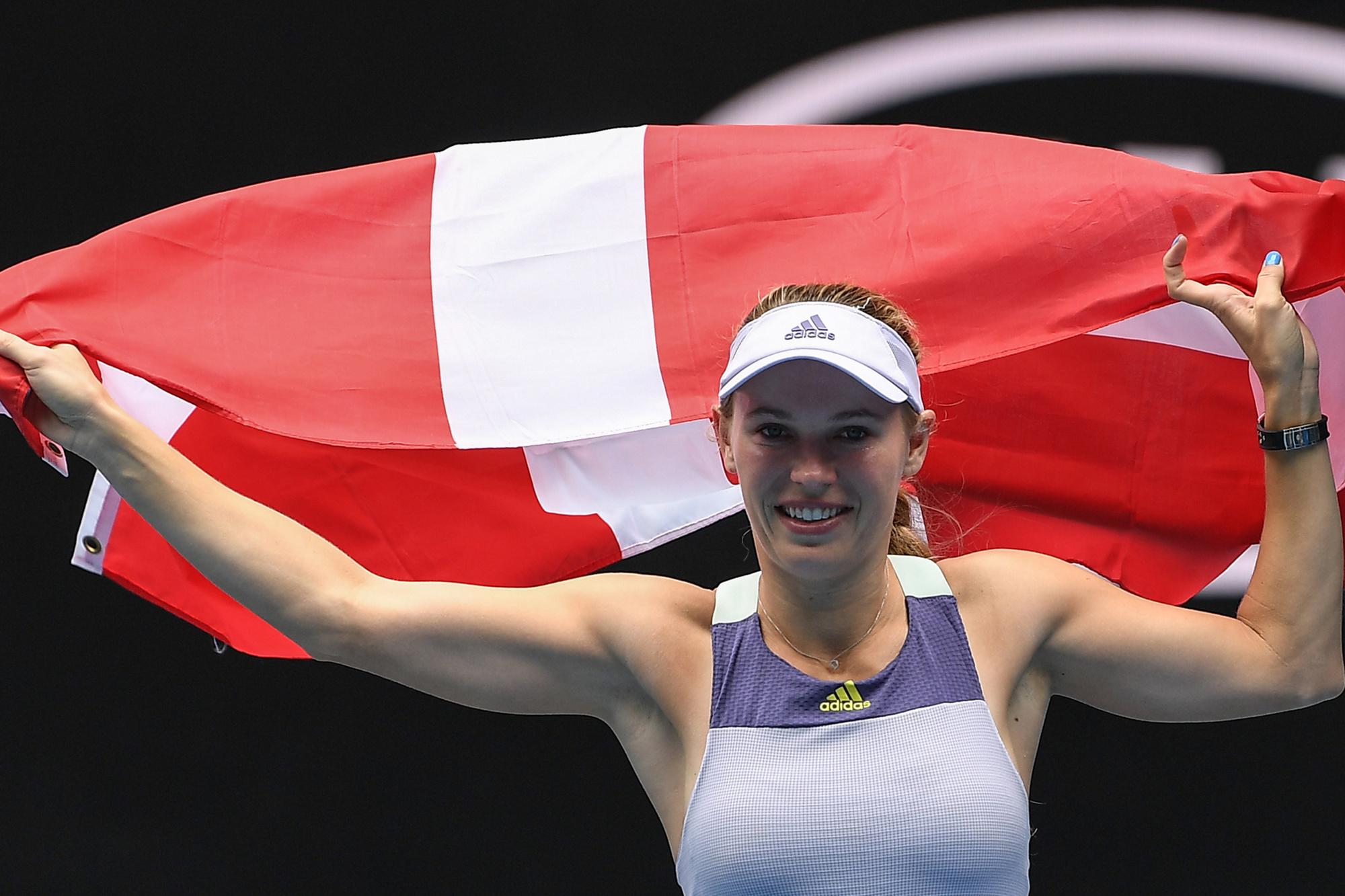 Wozniacki nam afscheid van het professioneel tennis., Belga Image