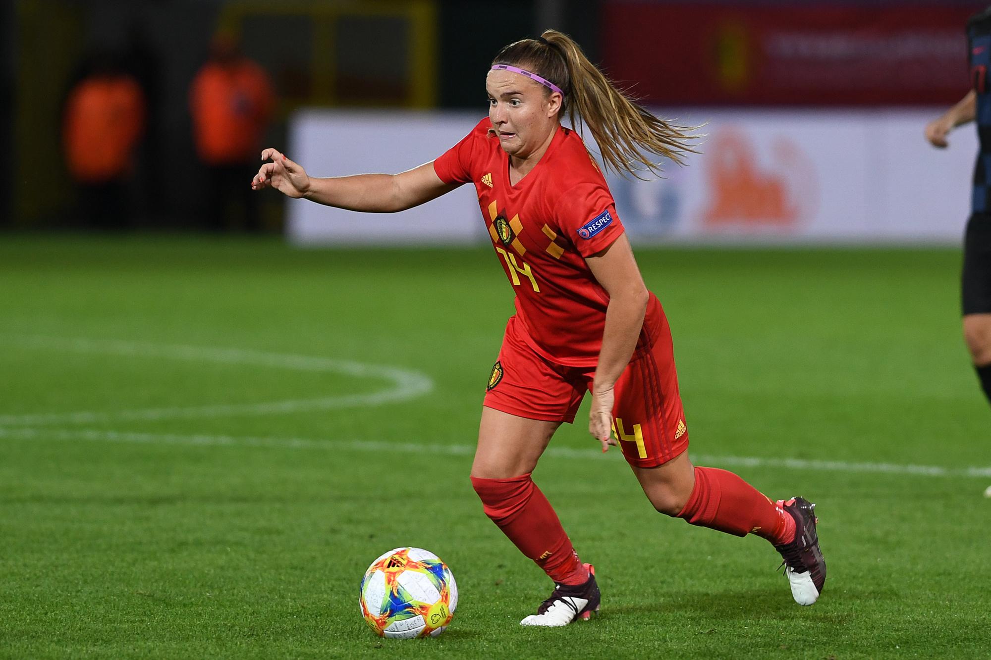 Davinia Vanmechelen is een groot talent bij de Red Flames., Belga Image