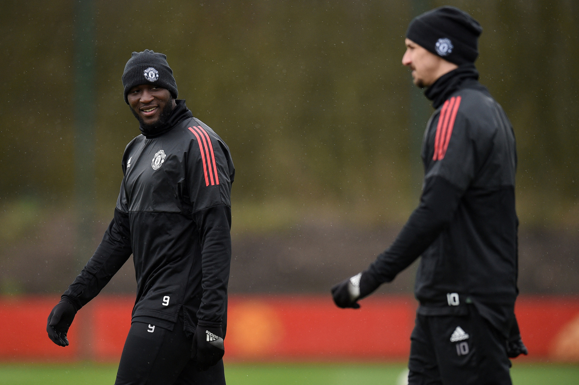 Romelu Lukaku et Zlatan Ibrahimovic, équipiers et concurrents à ManU., AFP (Oli Scarff)