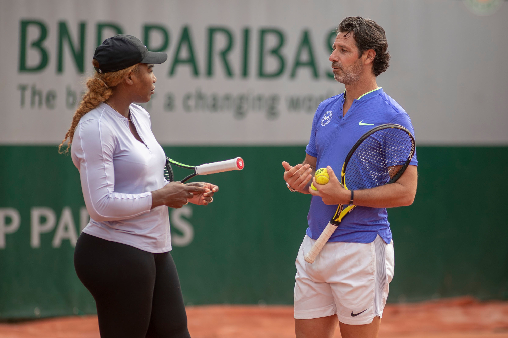 Mouratoglou is al jaren de coach van Serena Williams, GETTY