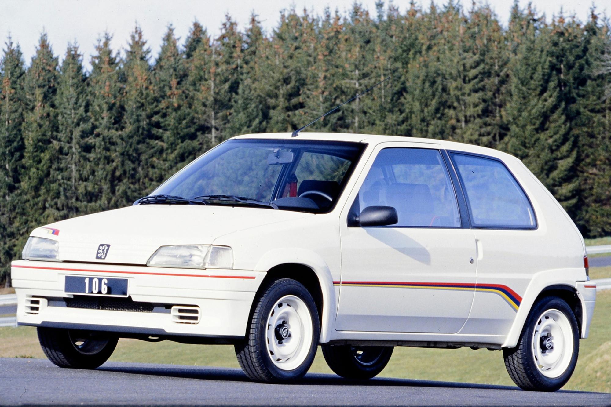 La 106 Rallye a permis à de nombreux jeunes de se lancer en compétition automobile., GF