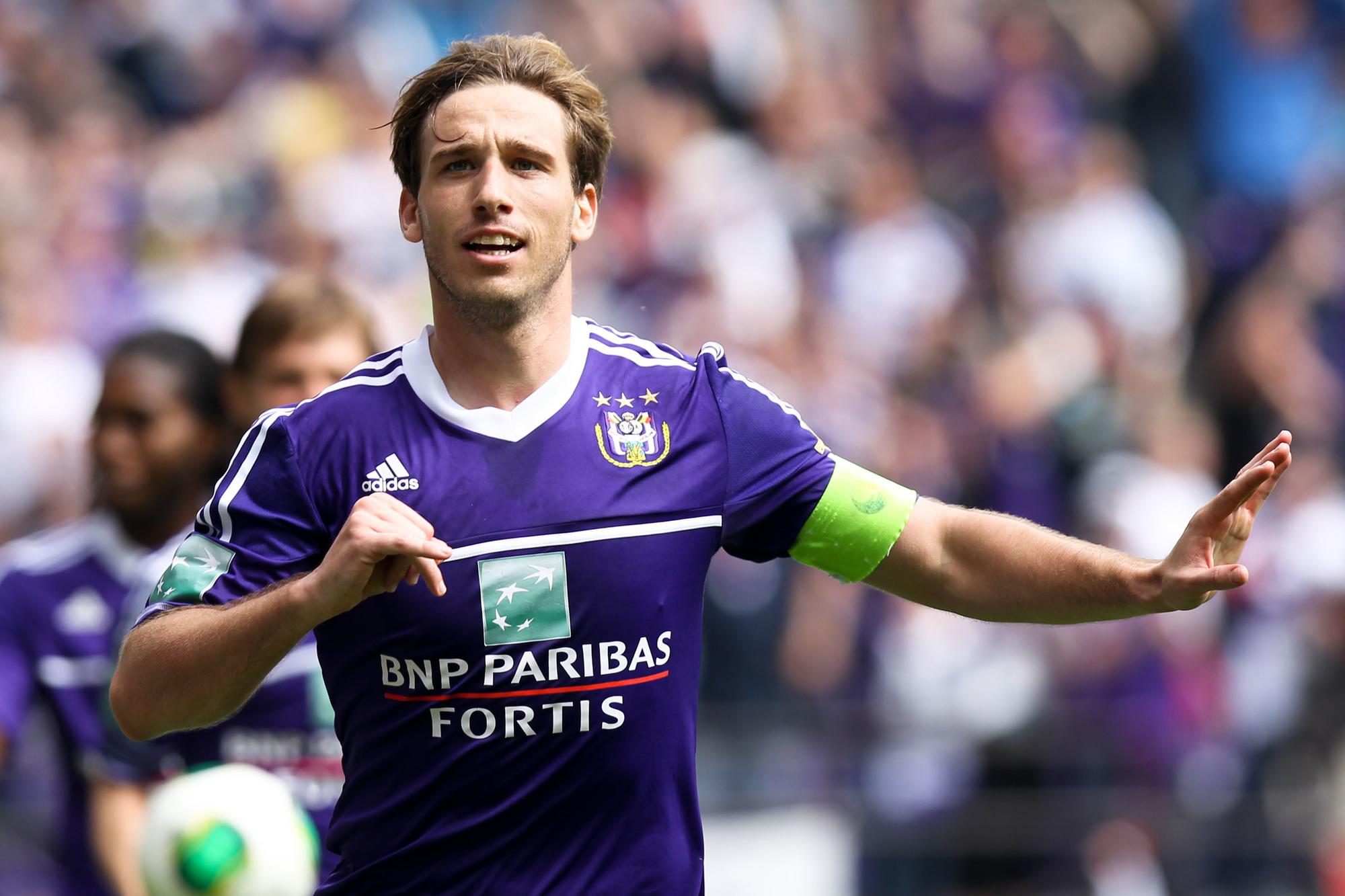 Lucas Biglia, de kapitein van Anderlecht, Belga Image