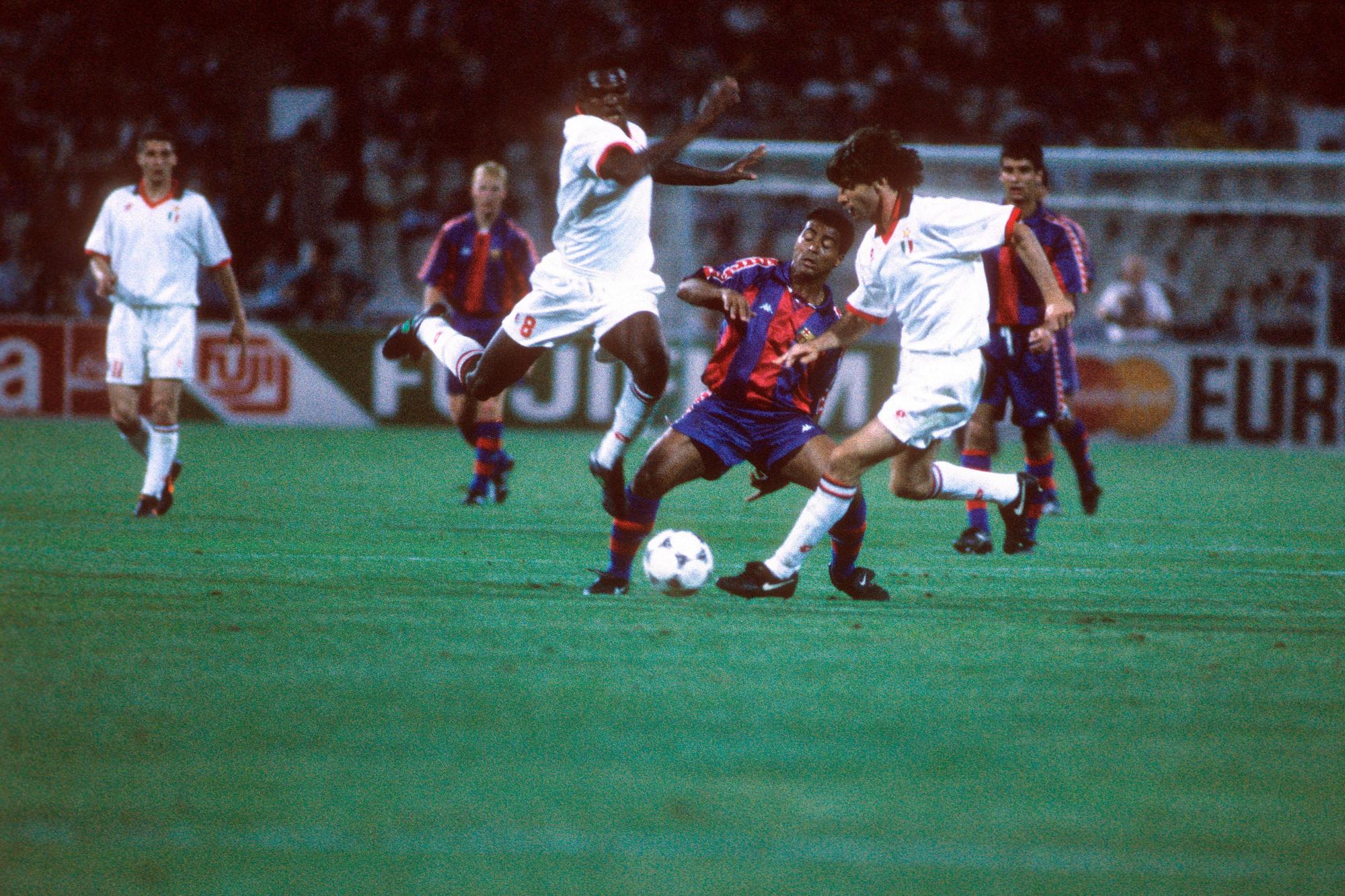 En finale, Romario n'a rien pu faire face aux Milanais., belga