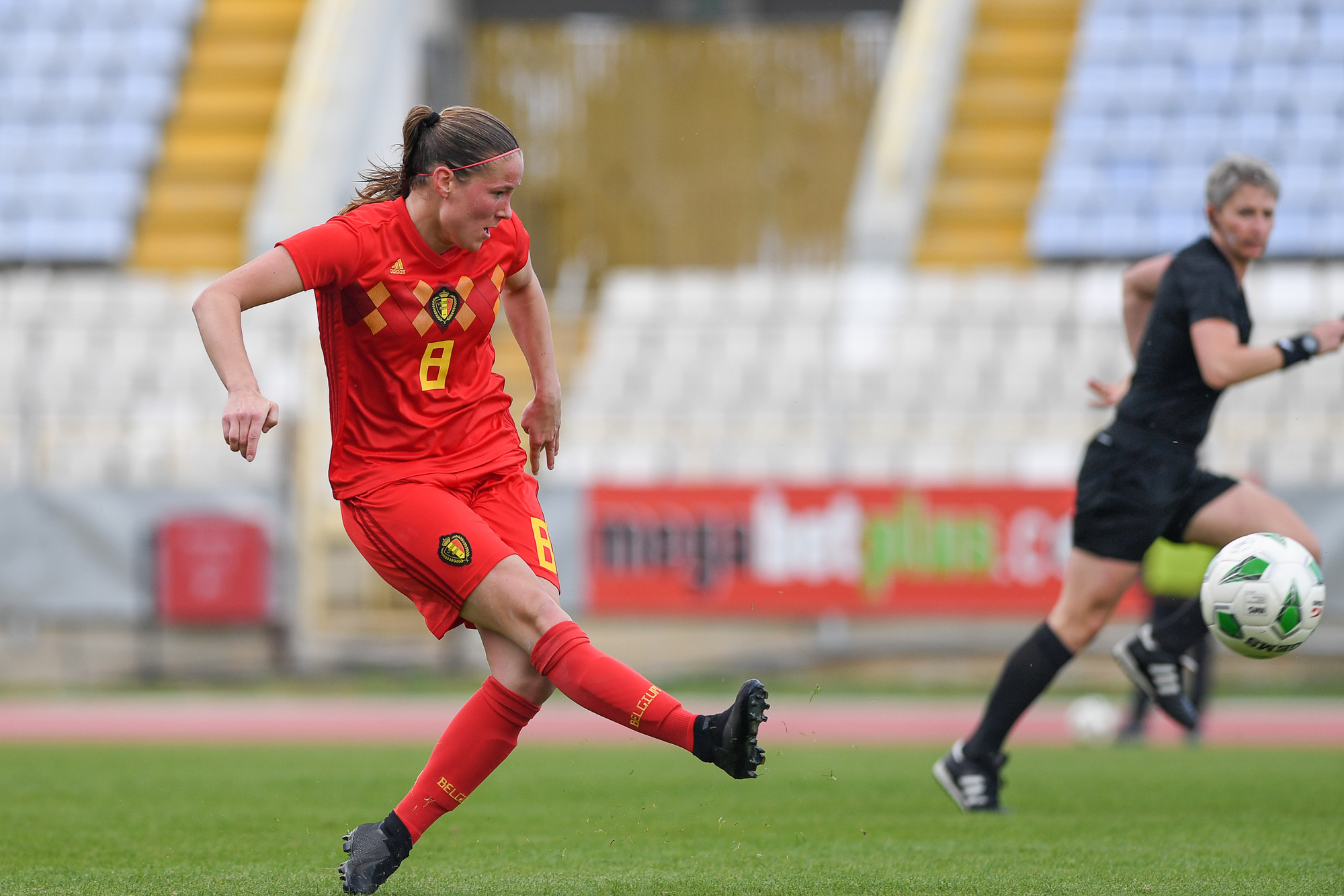 Lenie Onzia sous le maillot des Red Flames, en 2019., BELGIAN_FREELANCE (David Catry)