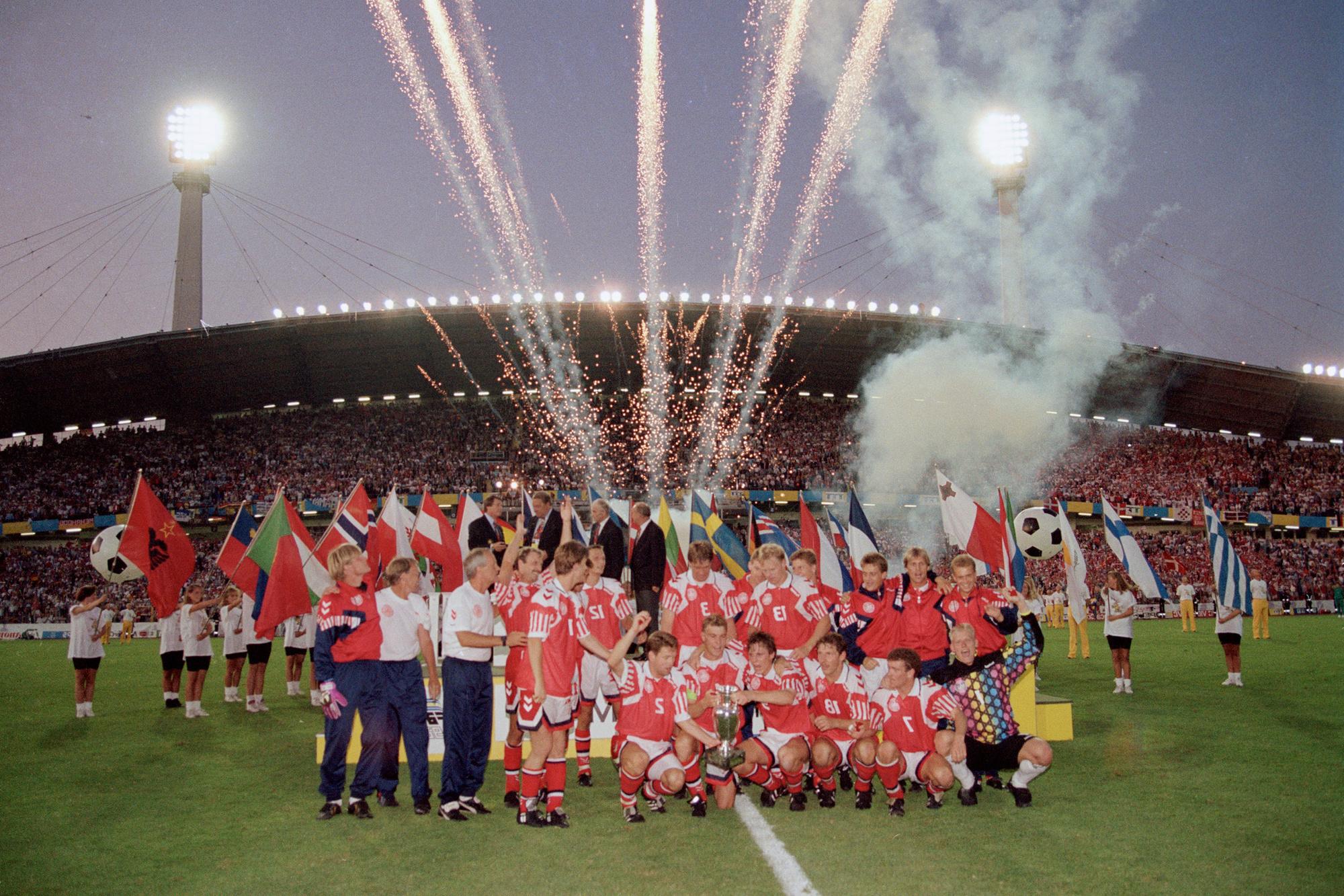 'Lucky loser' Denemarken verrast vriend en vijand en wint het EK van 1992, GETTY