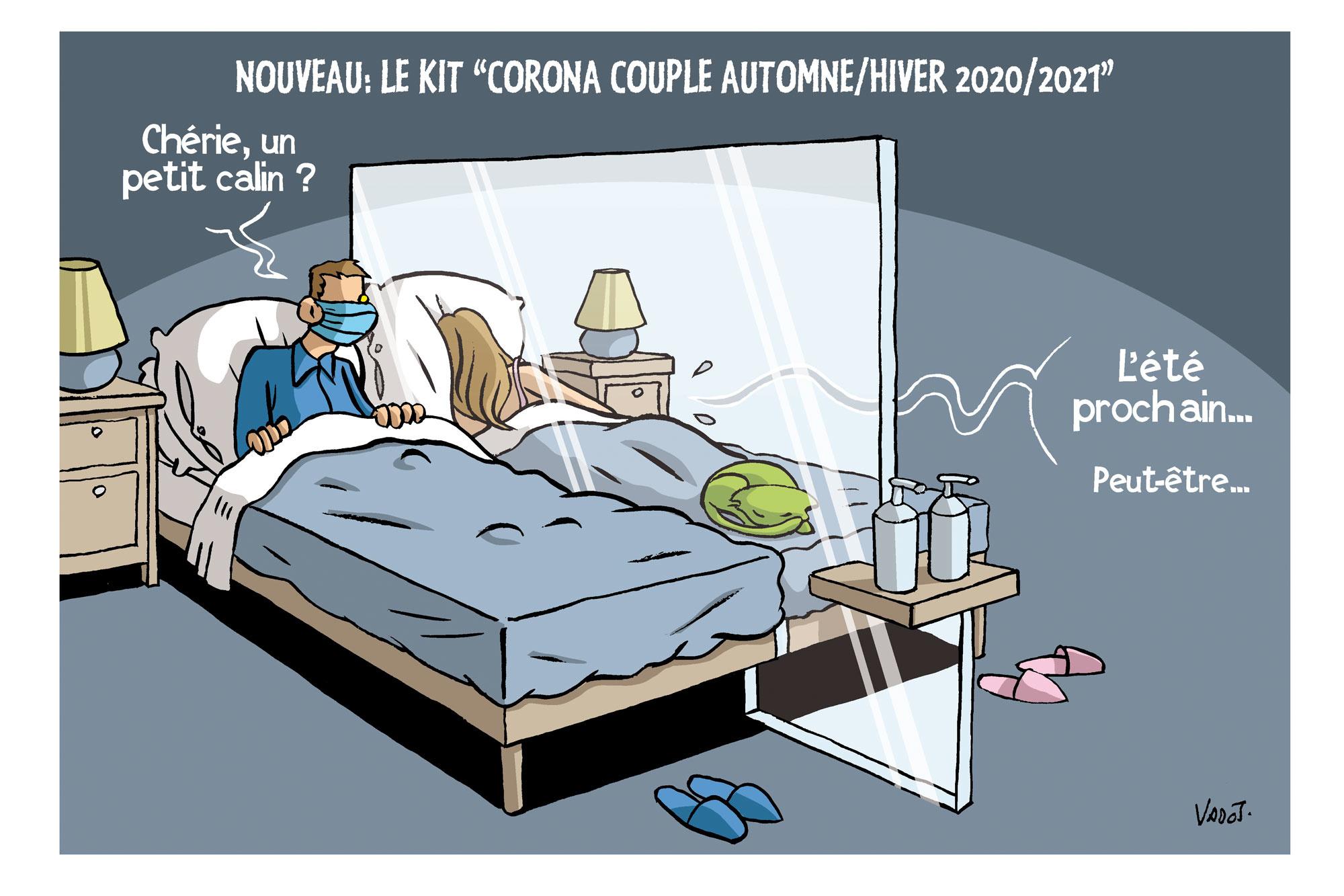 La majorité des contaminations au Covid-19 se passe au sein du foyer familial., Vadot