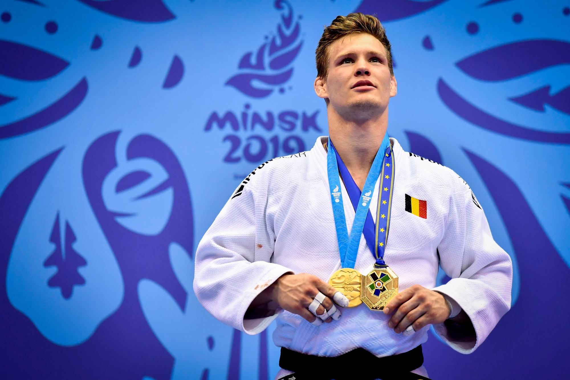 Matthias Casse won vorig jaar goud op het EK in Minsk en is een van dé favorieten op een gouden medaille in Tokio., Belga Image