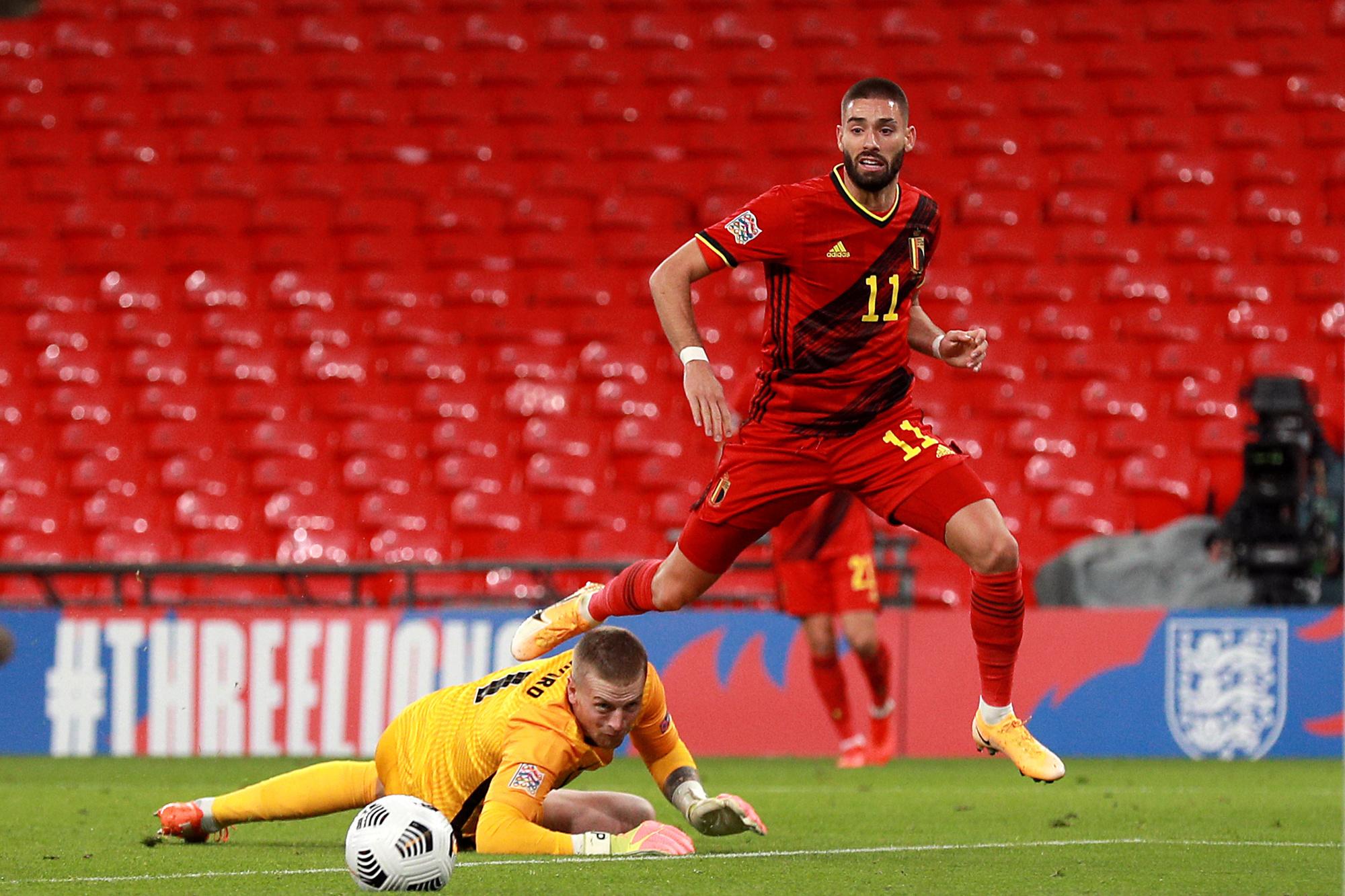 Yannick Carrasco s'est montré à son avantage face à l'Angleterre., belga
