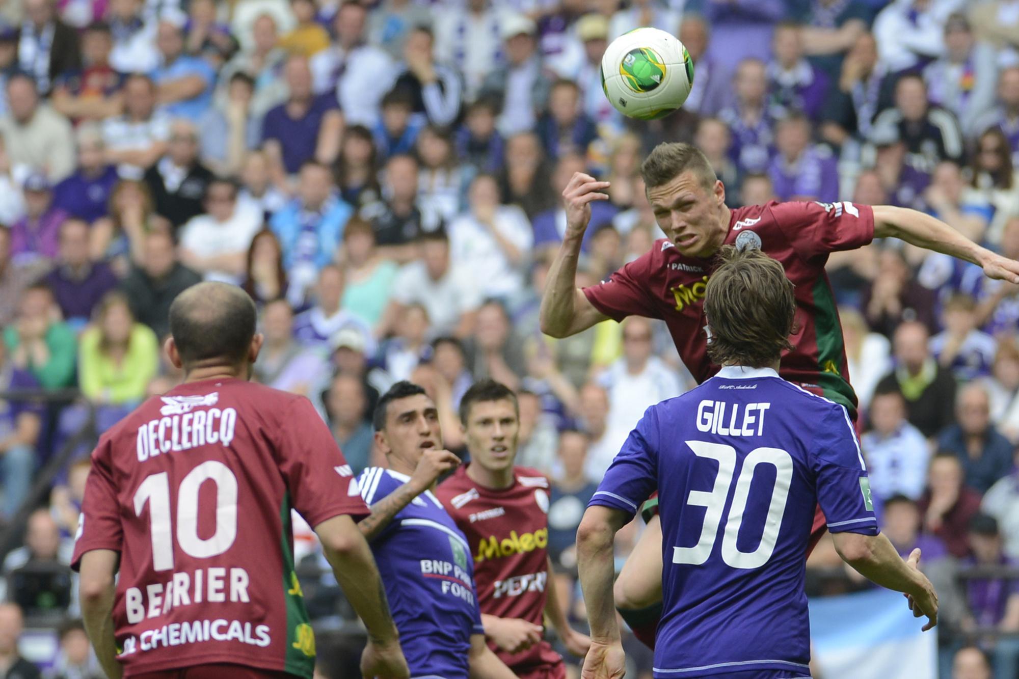 Jens Naessens scoort tegen Anderlecht., Belga Image