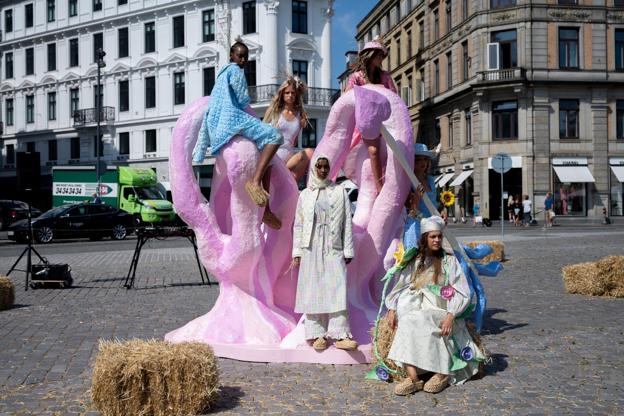 De show van Helmstedt ging door op het Kongens Nytorv-plein, Getty