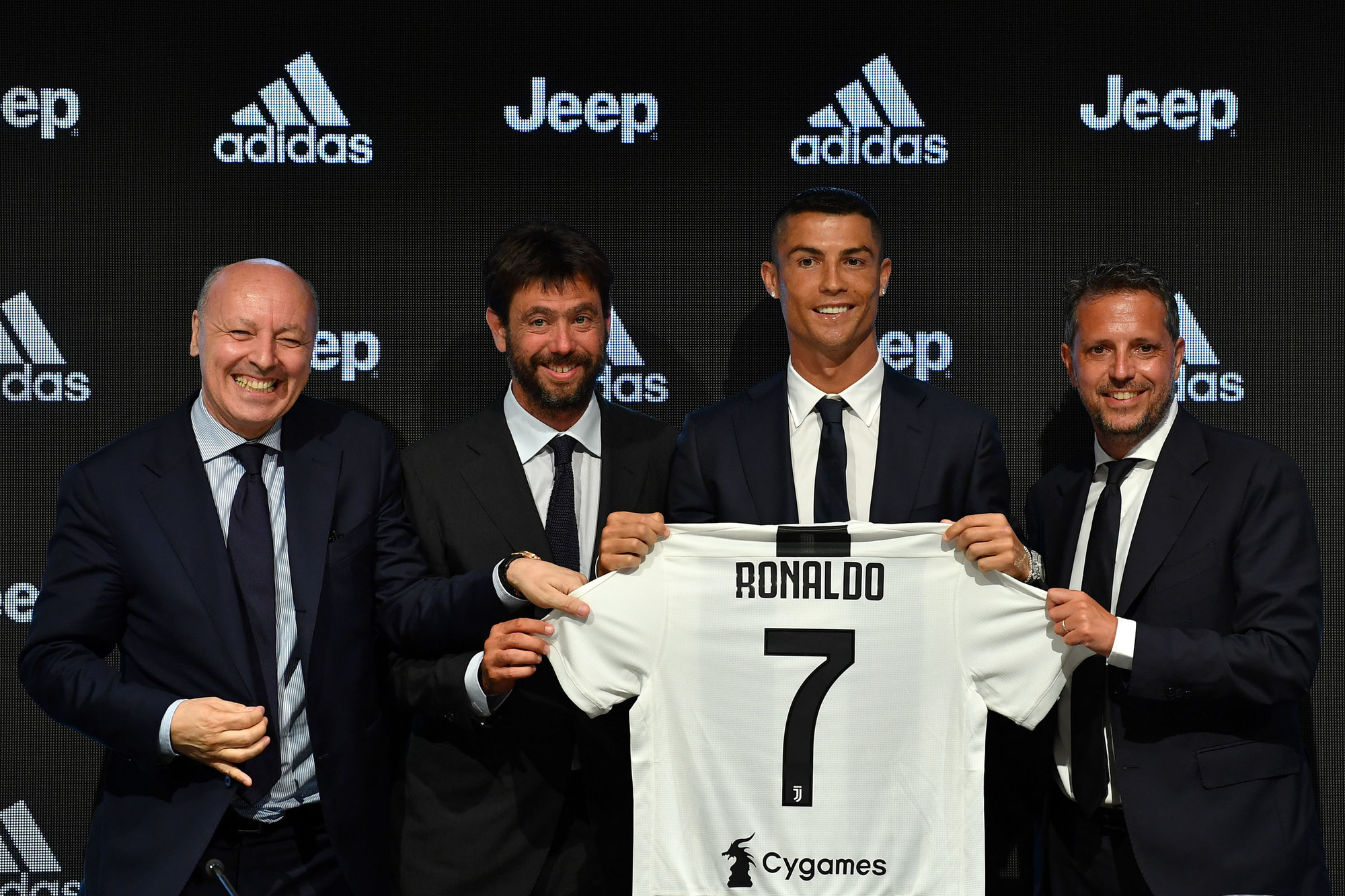 Andrea Agnelli met superster Cristian Ronaldo, GETTY