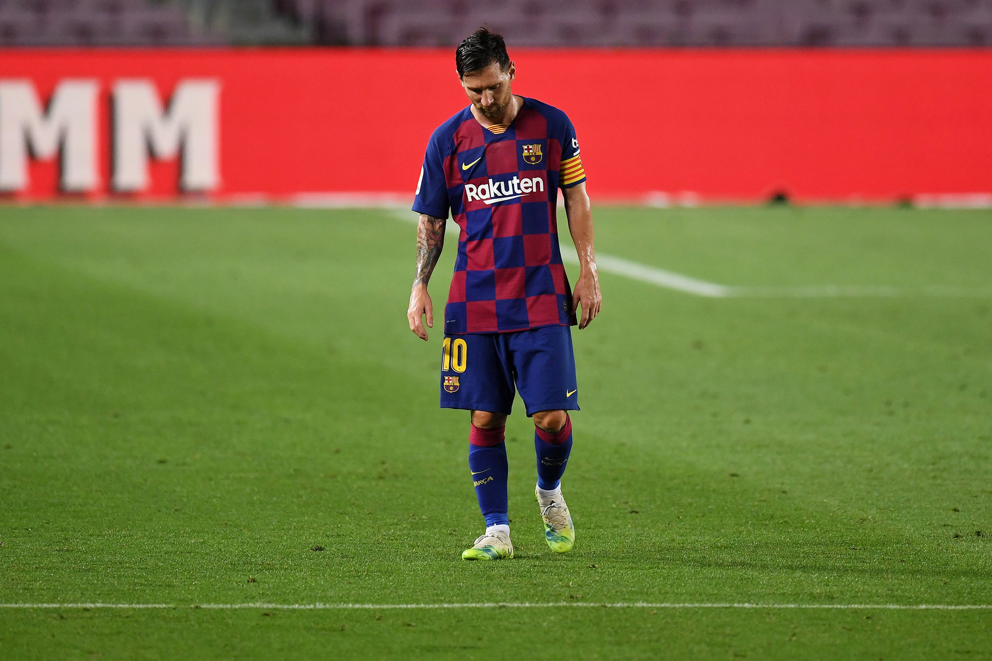 Het werd een rampzalig seizoen voor Barcelona, maar niet voor Messi, GETTY