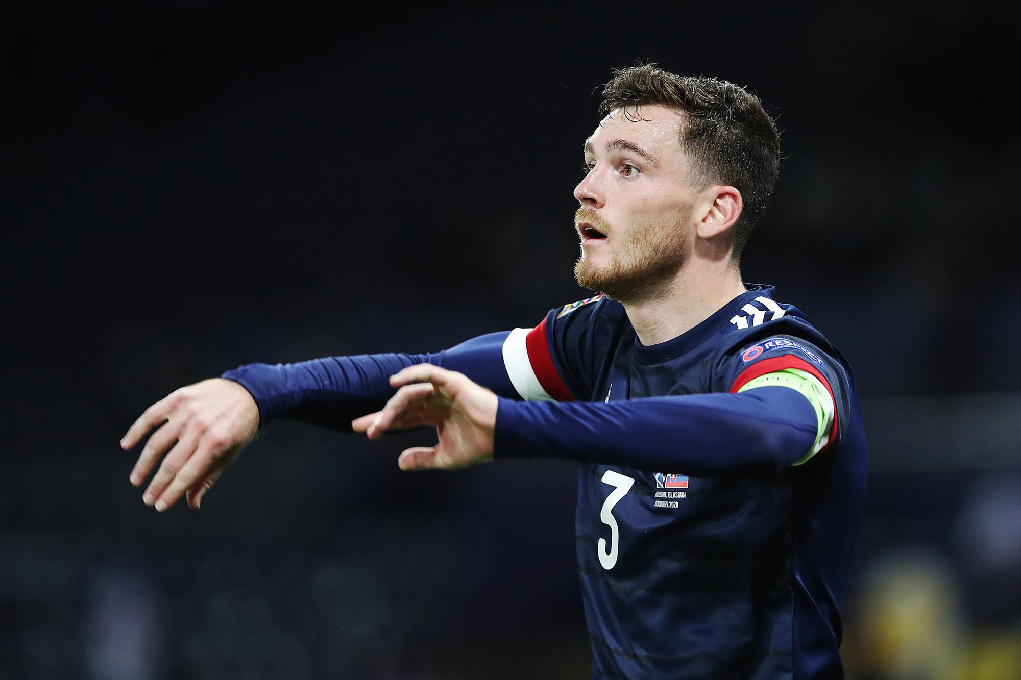 Andy Robertson, de wereldspeler van Schotland, GETTY