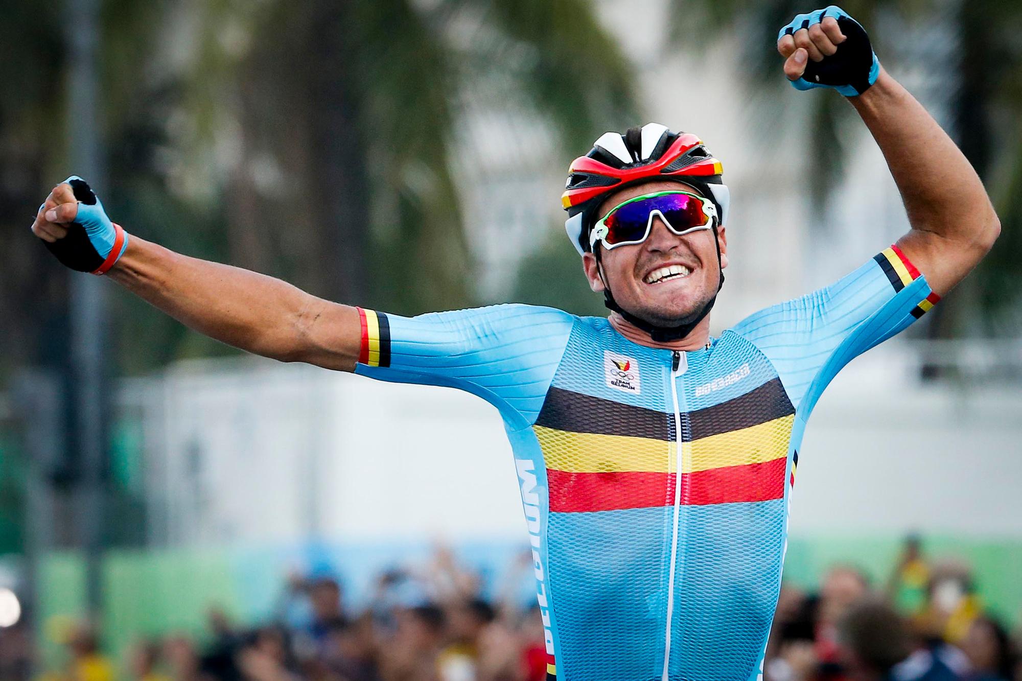 Van Avermaet en zijn gouden medaille op de Spelen in Rio, Belga Image