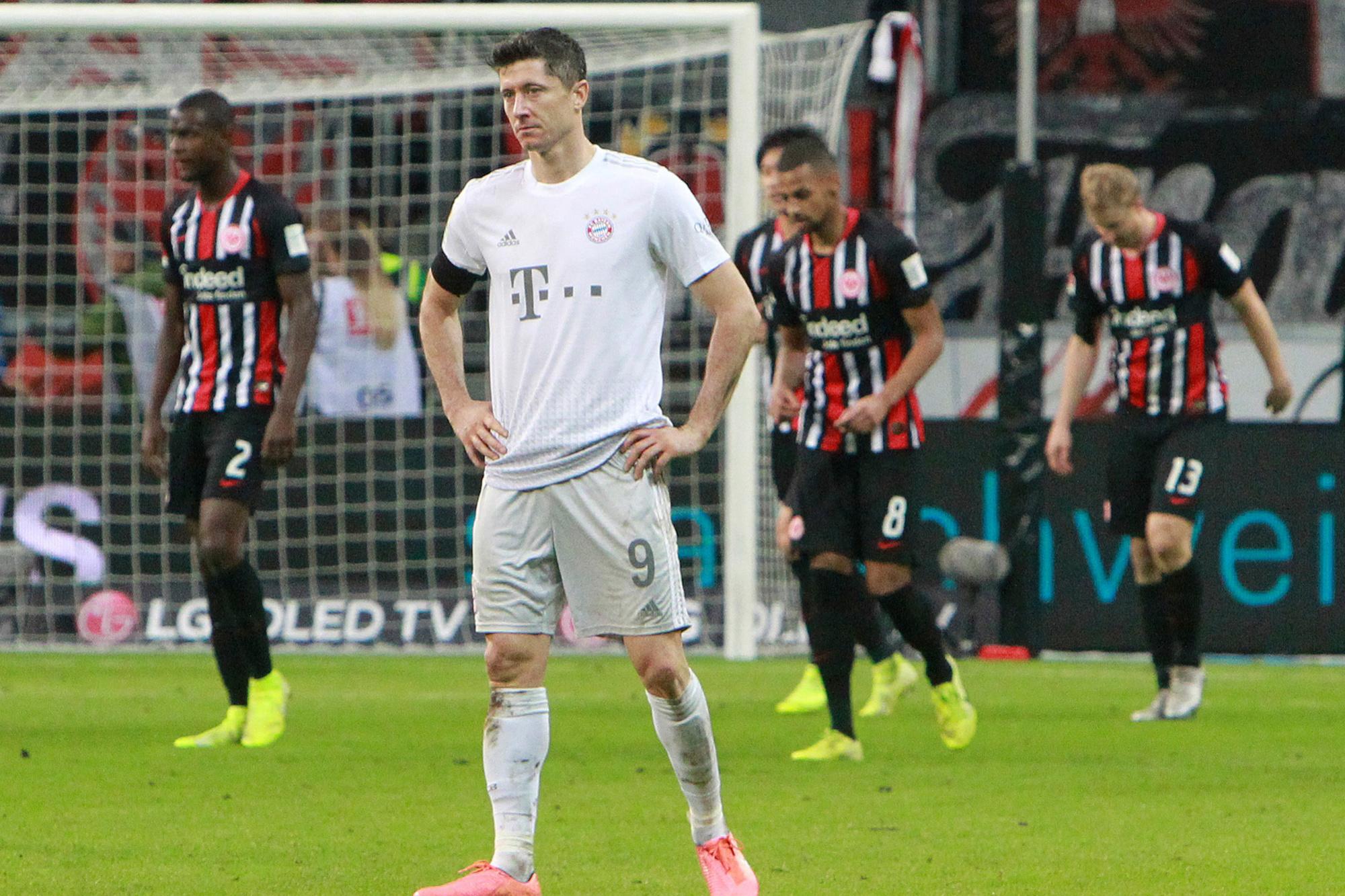 Dit weekend won Frankfurt nog met 5-1 van Bayern., Belga Image