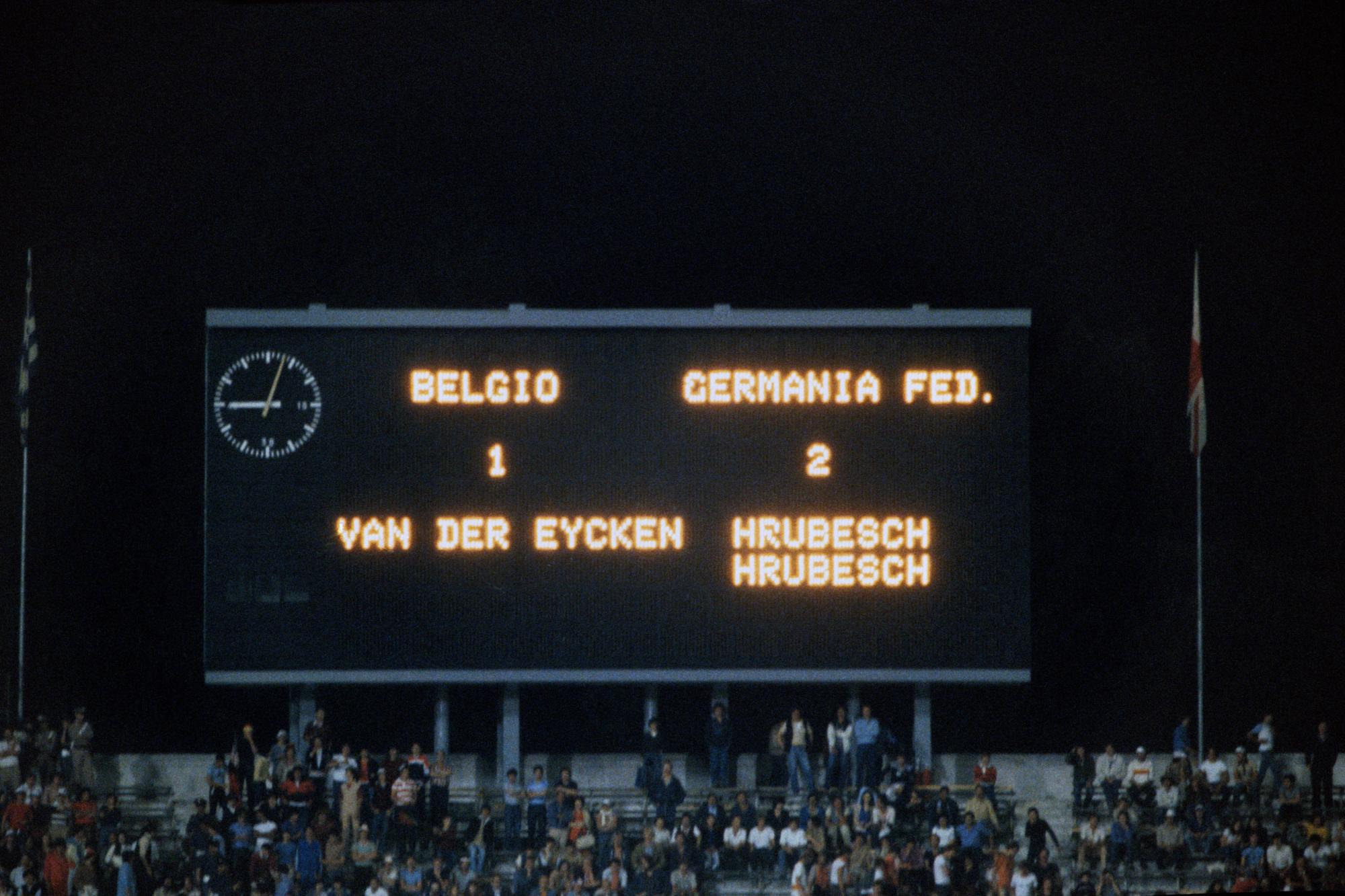 België ging de boot in met 2-1 tegen West-Duitsland, Belga Image