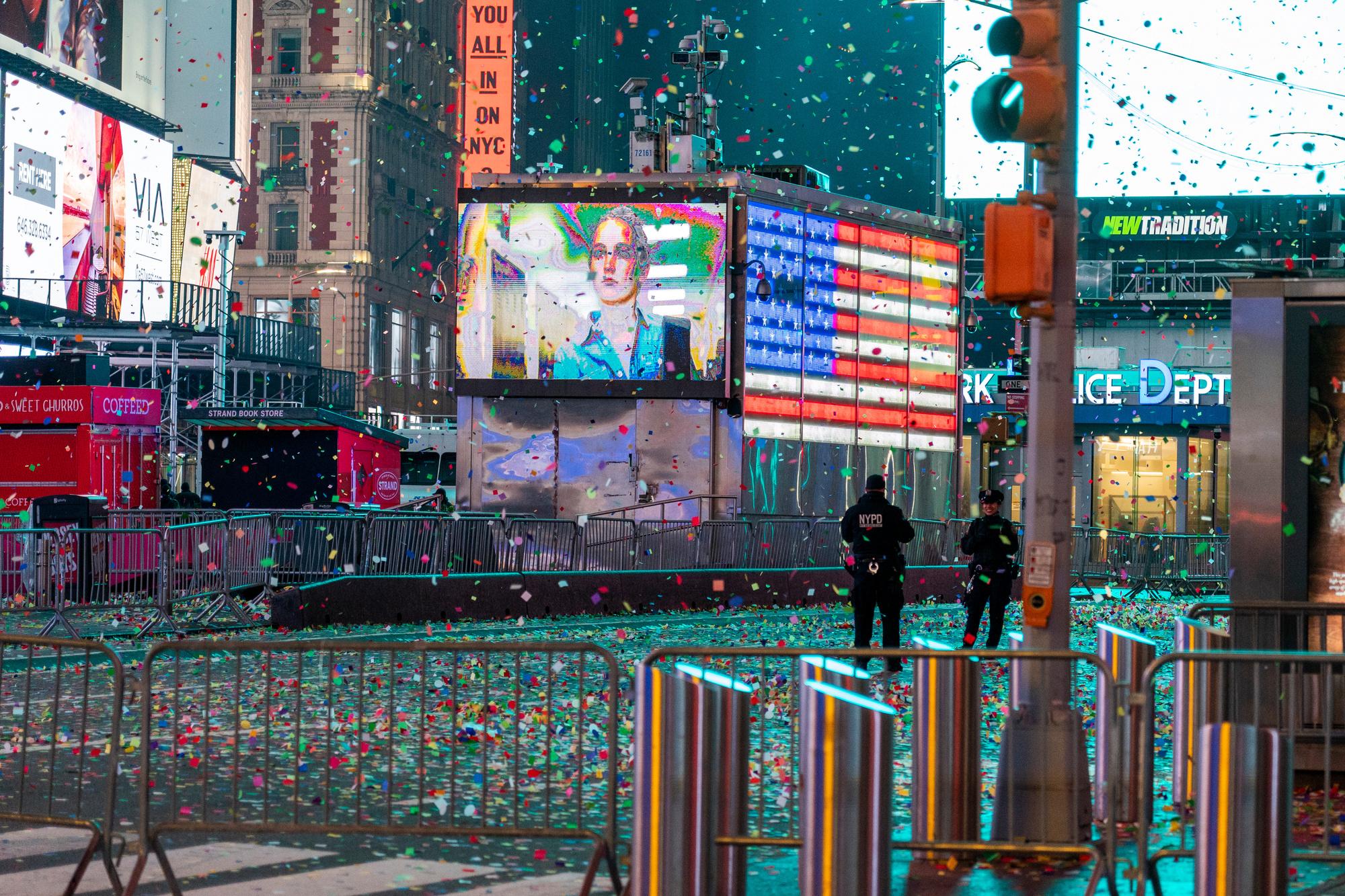 Un réveillon pas comme les autres à Times Square., AFP