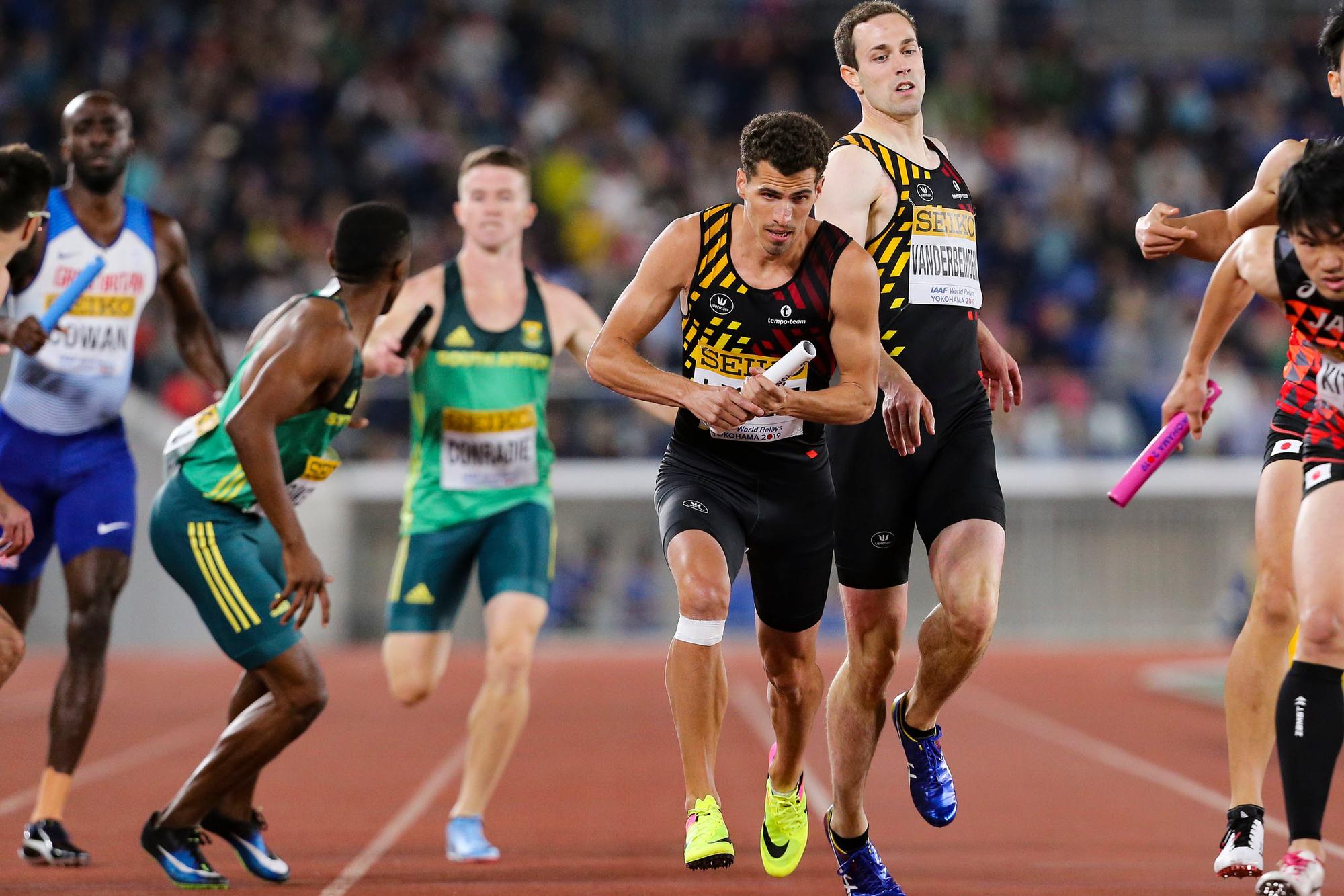 Jonathan Borlée is samen met zijn broer Kevin onversneden klasse op de 400 m, Belga Image