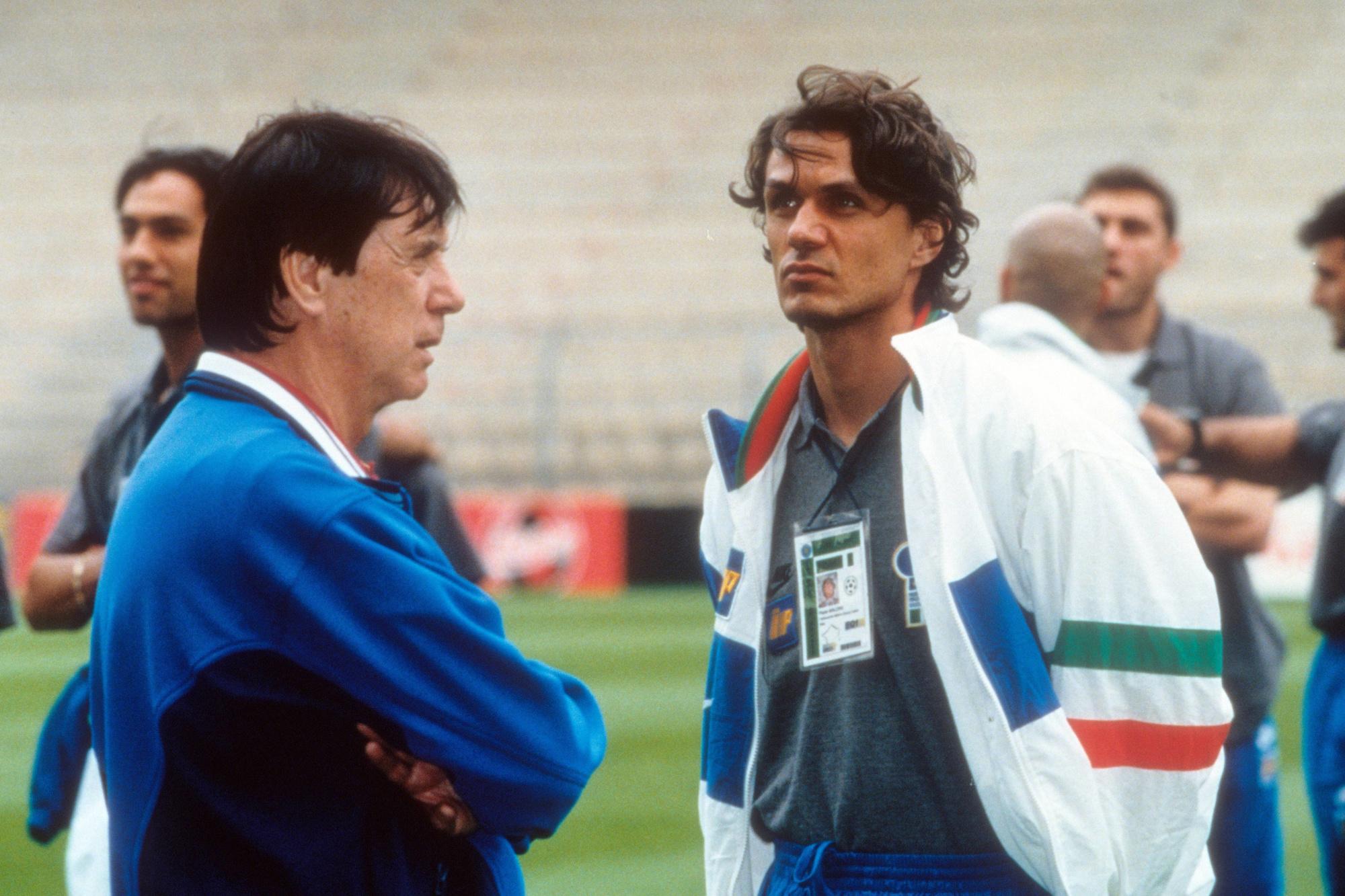 Cesare, époque sélectionneur, avec son fils et joueur, Paolo., IMAGO