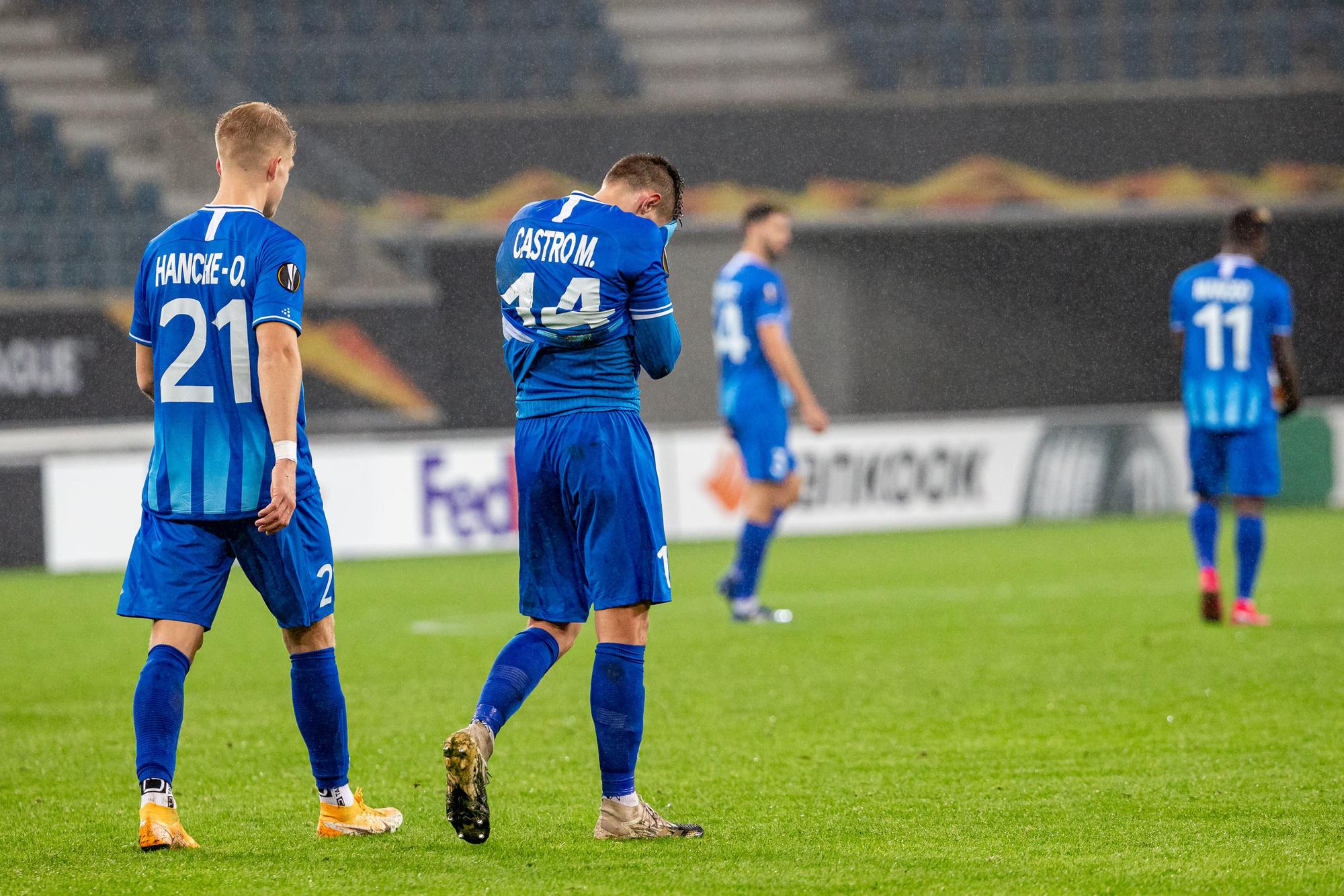 Ongeloof bij KAA Gent nadat Hoffenheim er vier inlegden bij de Buffalo's., Belga Image