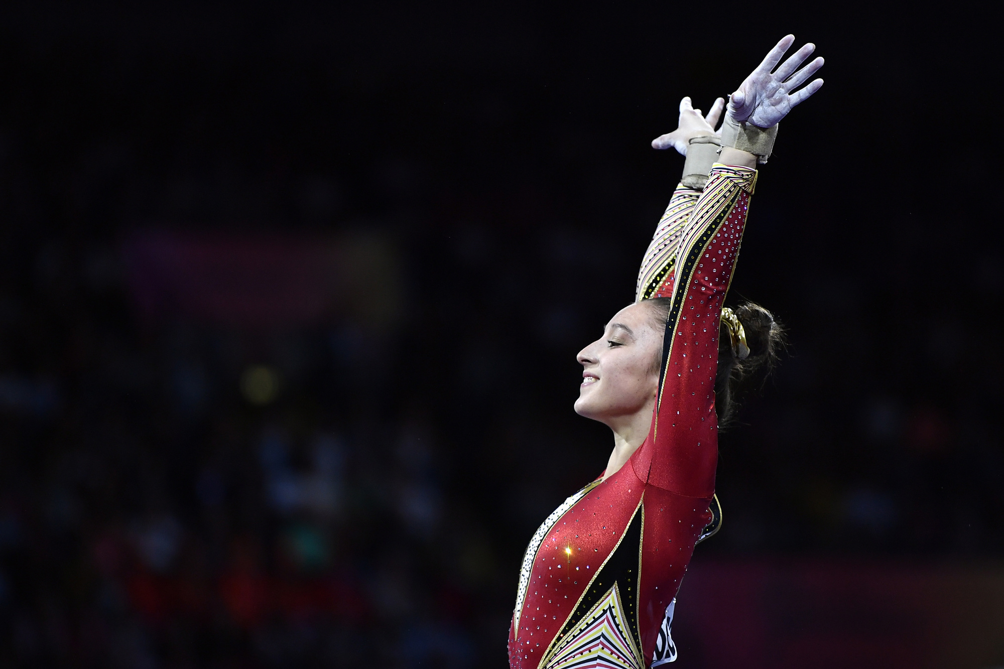 Nina Derwael, een van de toppers van het moderne turnen, is een van dé topfavorieten op goud op de Spelen van Tokio., Belga Image