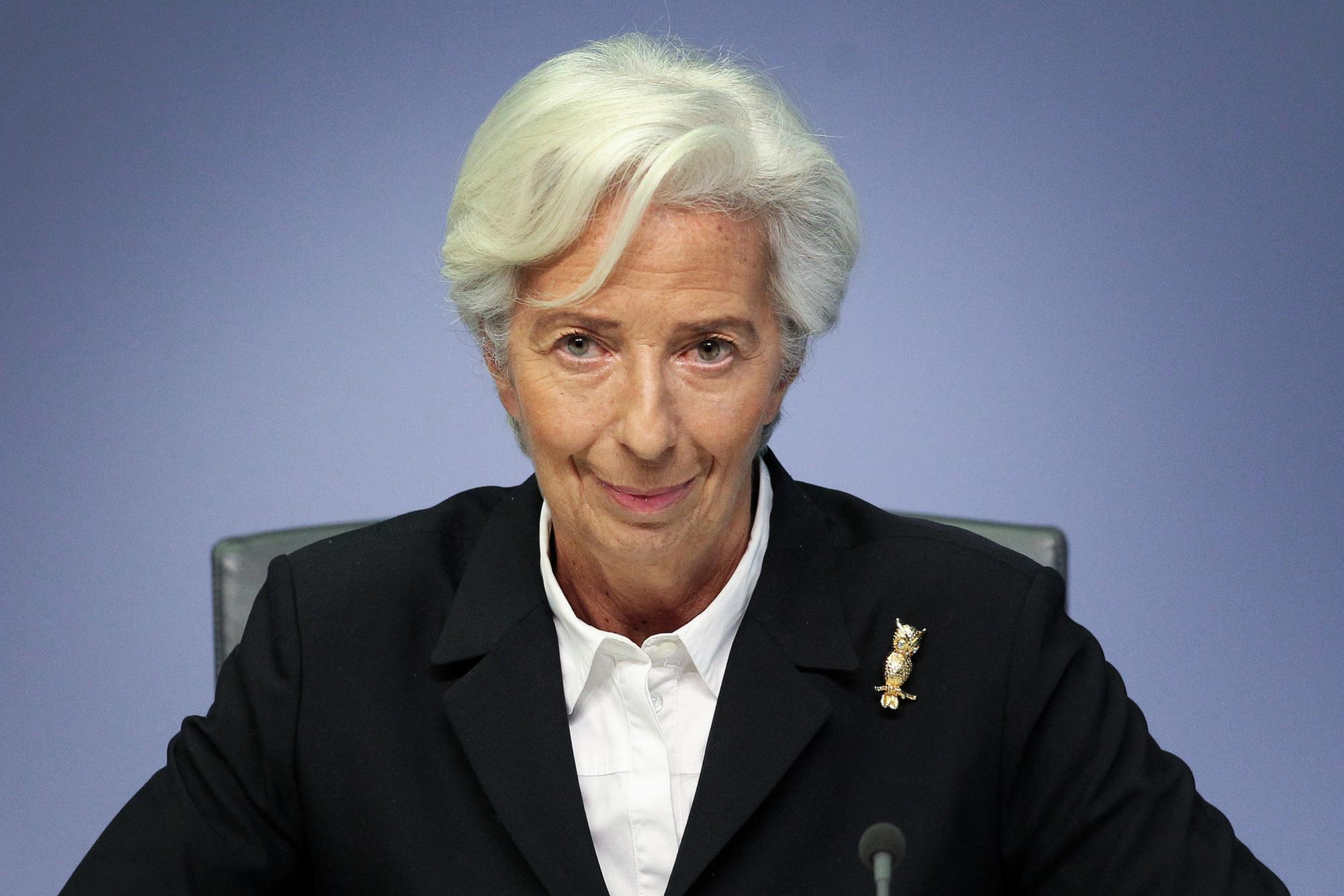 La présidente de la Banque centrale européenne (BCE), Christine Lagarde., BELGAIMAGE