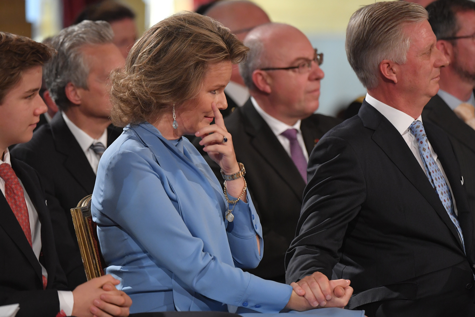 Koningin Mathilde en koning Filip., Belga Image