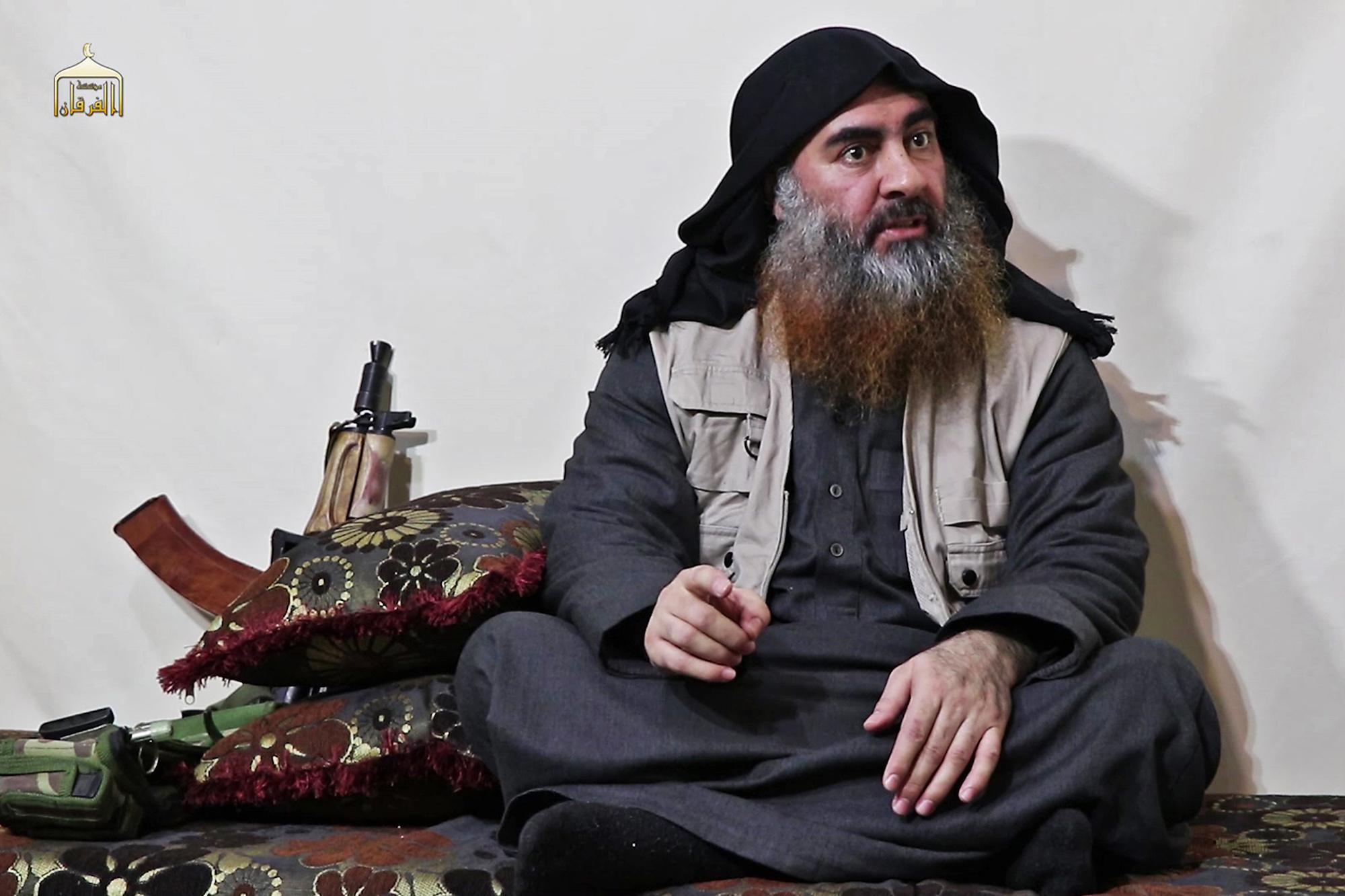 In april 2019 verscheen deze video van een man die Al-Baghdadi beweert te zijn., Belga Image