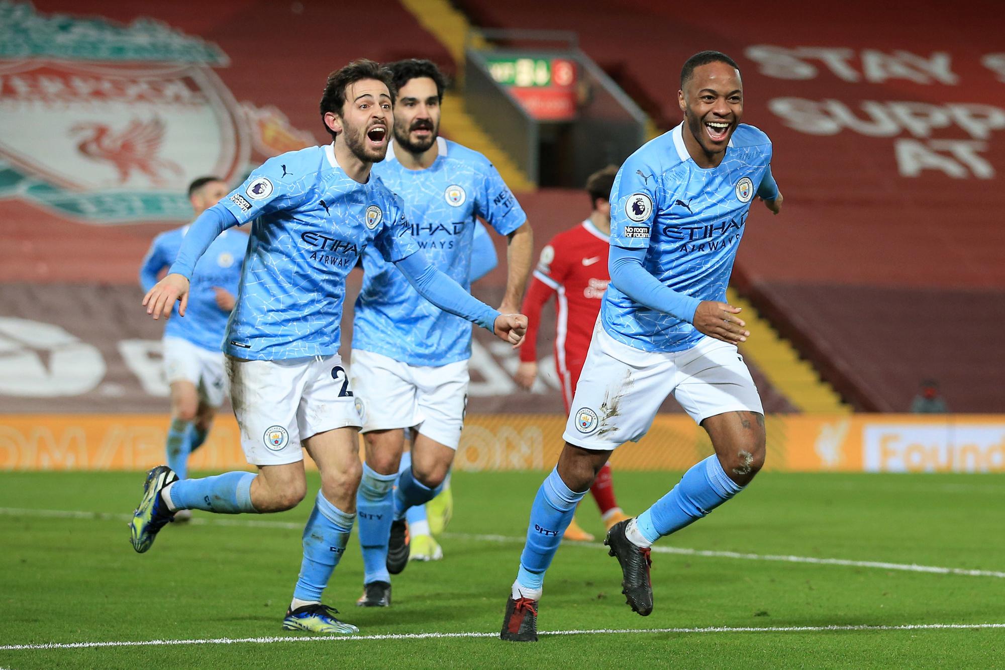 De zege van City op Liverpool was misschien wel het sleutelmoment in het kampioenschap van de Citizens, GETTY
