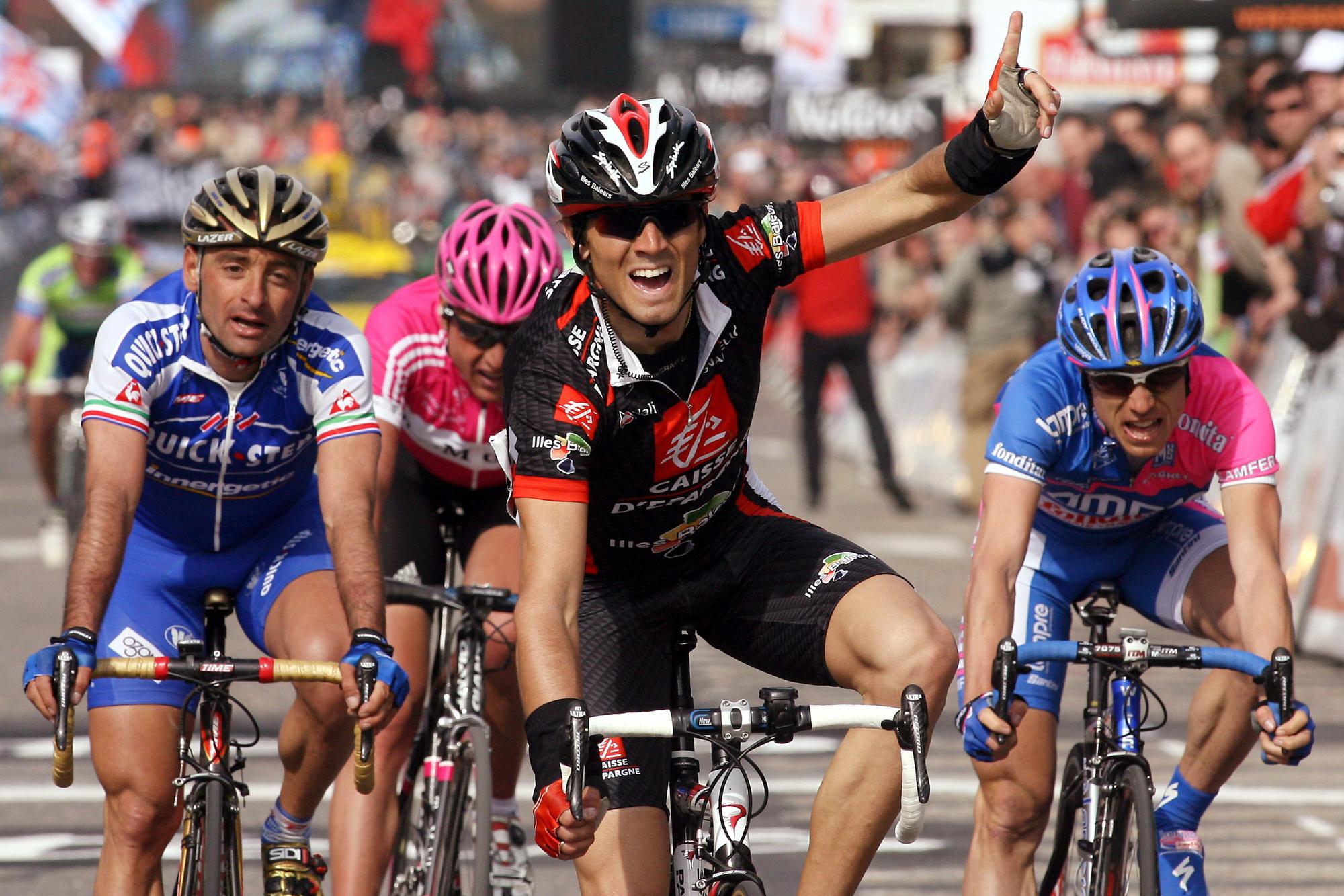 Première victoire à Liège-Bastogne-Liège pour Alejandro Valverde., belga