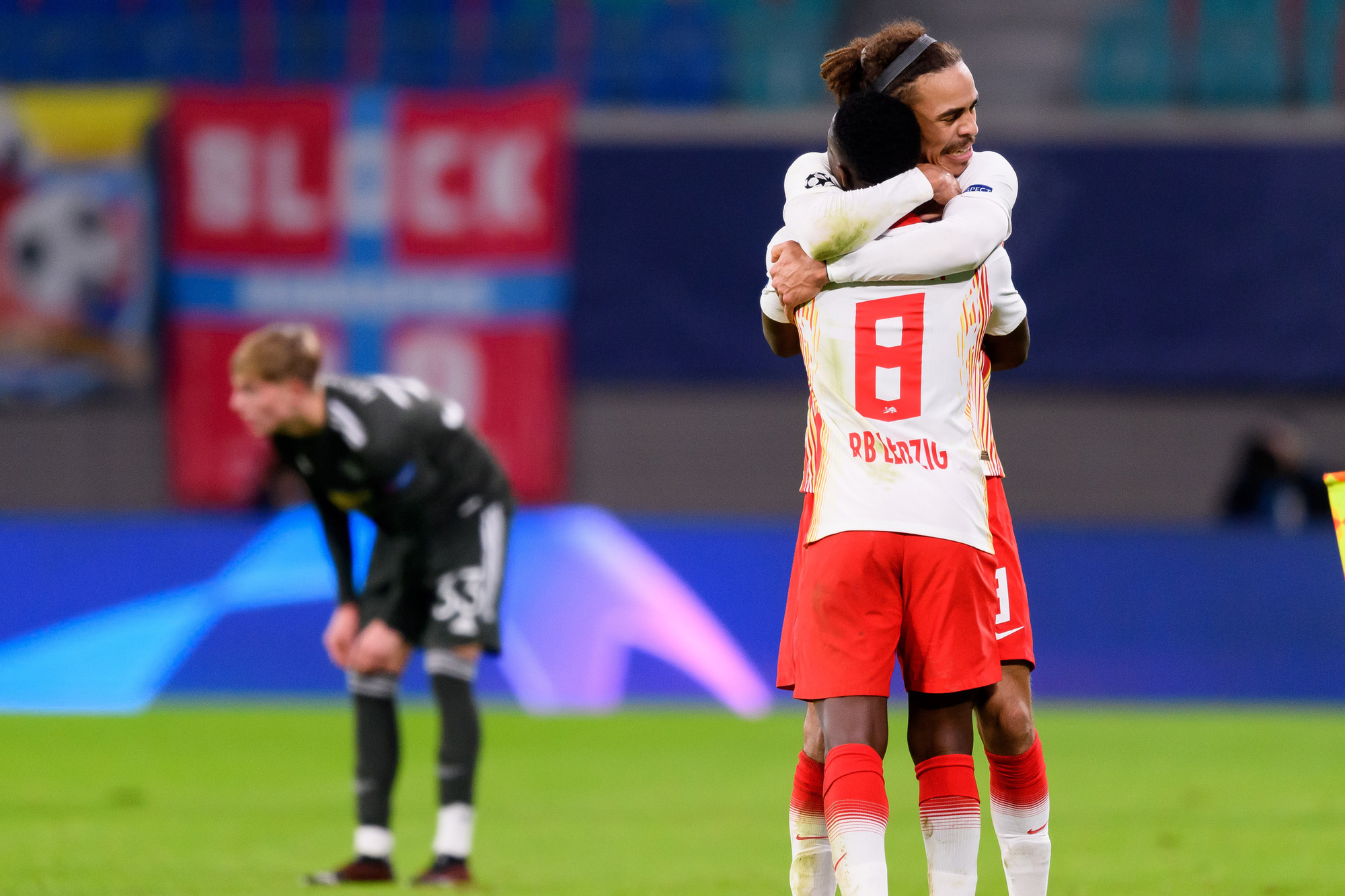 Leipzig was te sterk voor United in de Champions League, GETTY