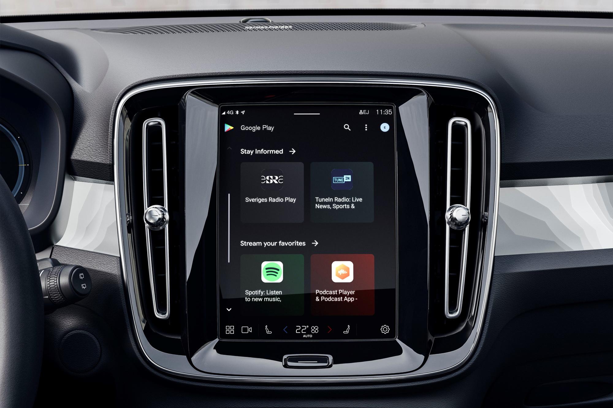 Le système d'infodivertissement de Volvo (développé avec Google) est l'un des plus agréables à utiliser du marché., GF