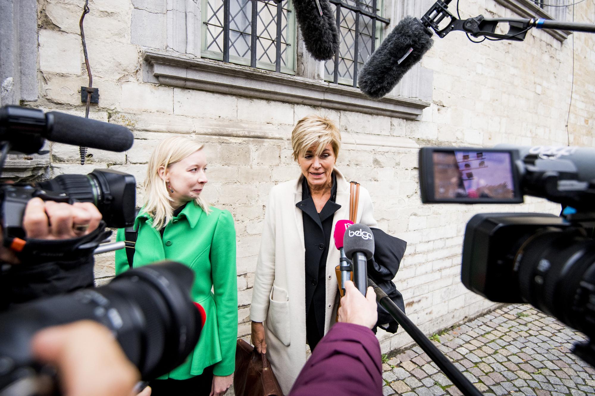 Advocaten An-Sofie Raes en Christine Mussche, 13 oktober 2021., Belga Image