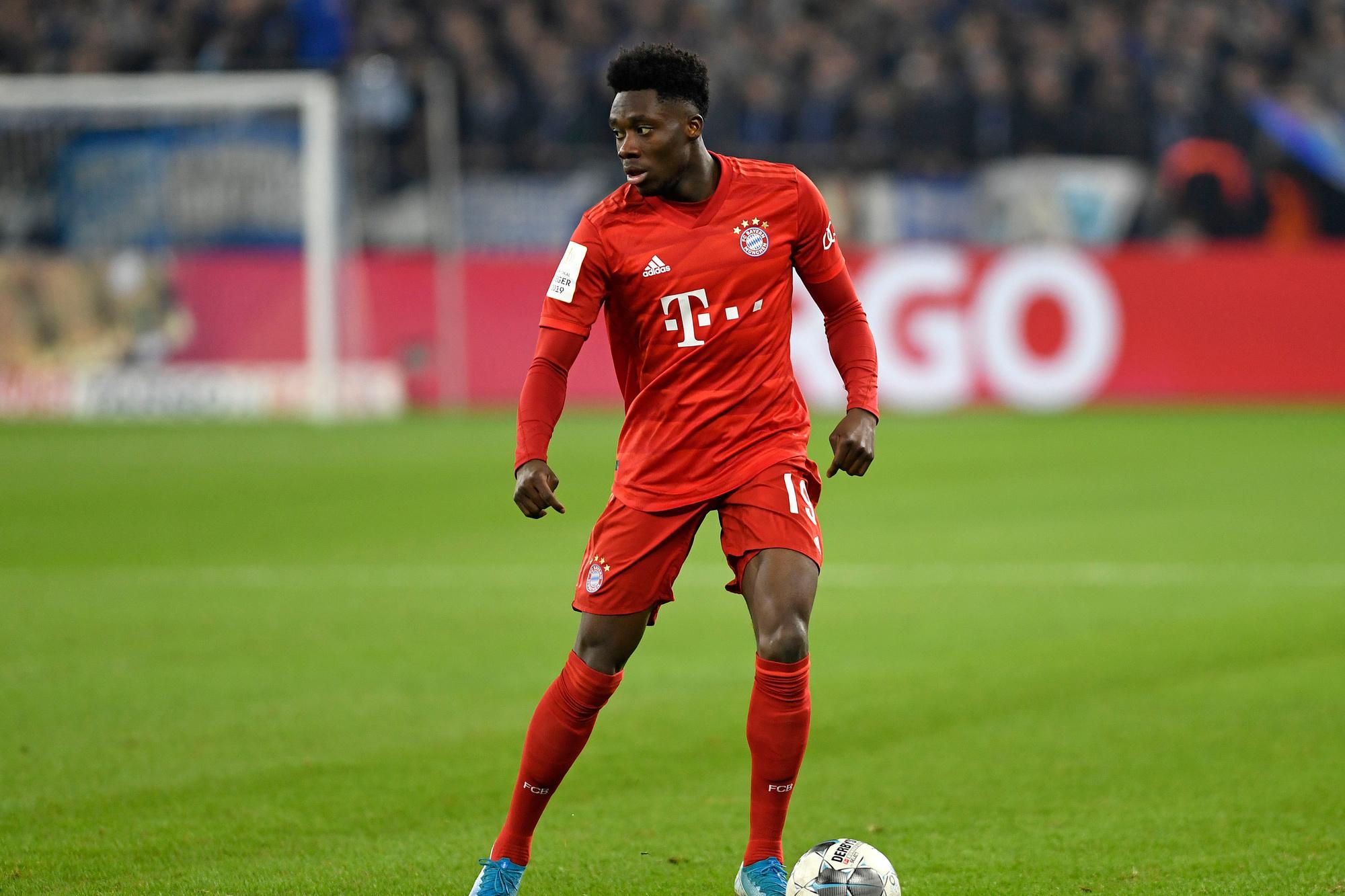 Alphonso Davies is op zijn negentiende al een certitude bij Bayern München., GETTY
