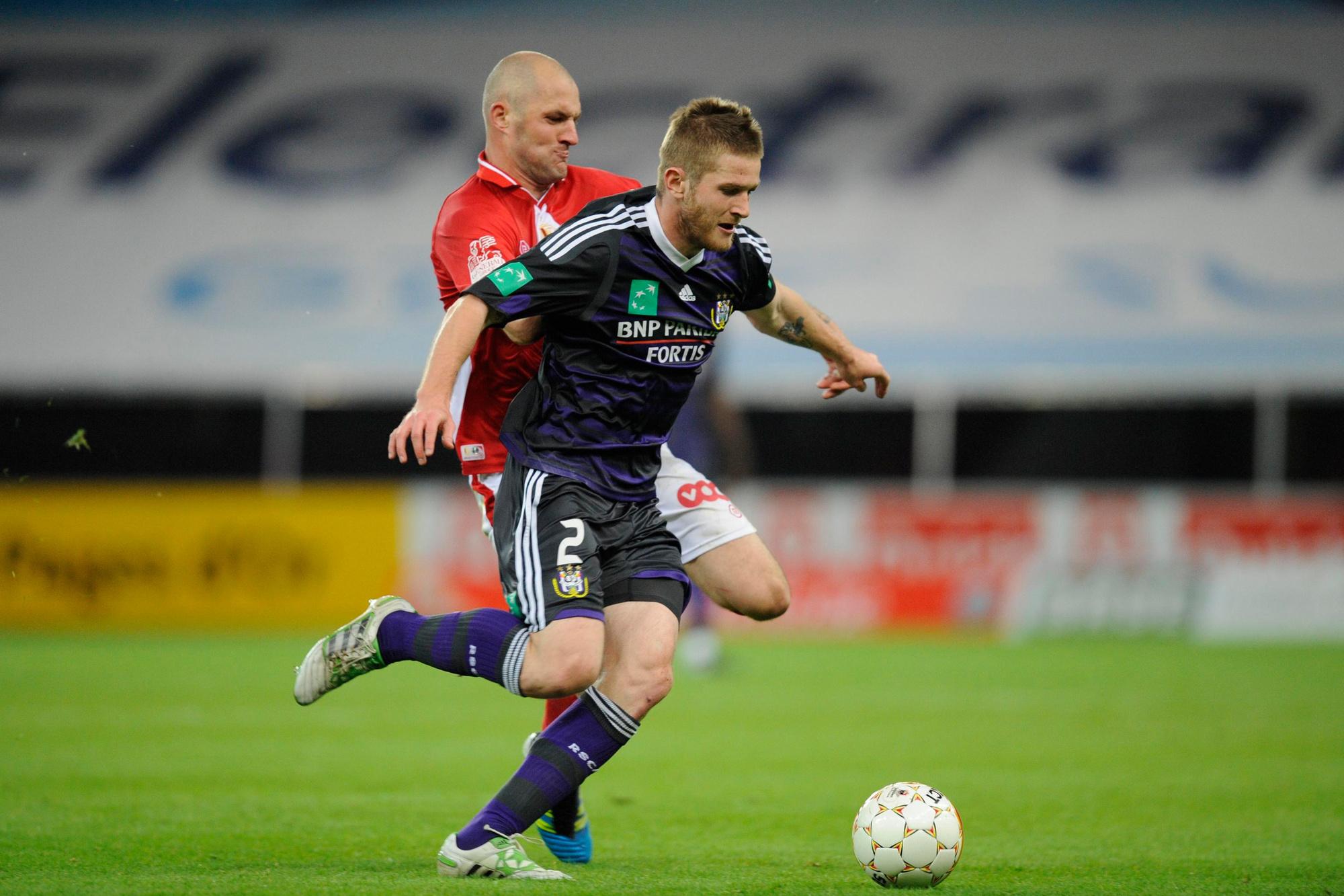 Mazuch in actie voor Anderlecht, Belga Image