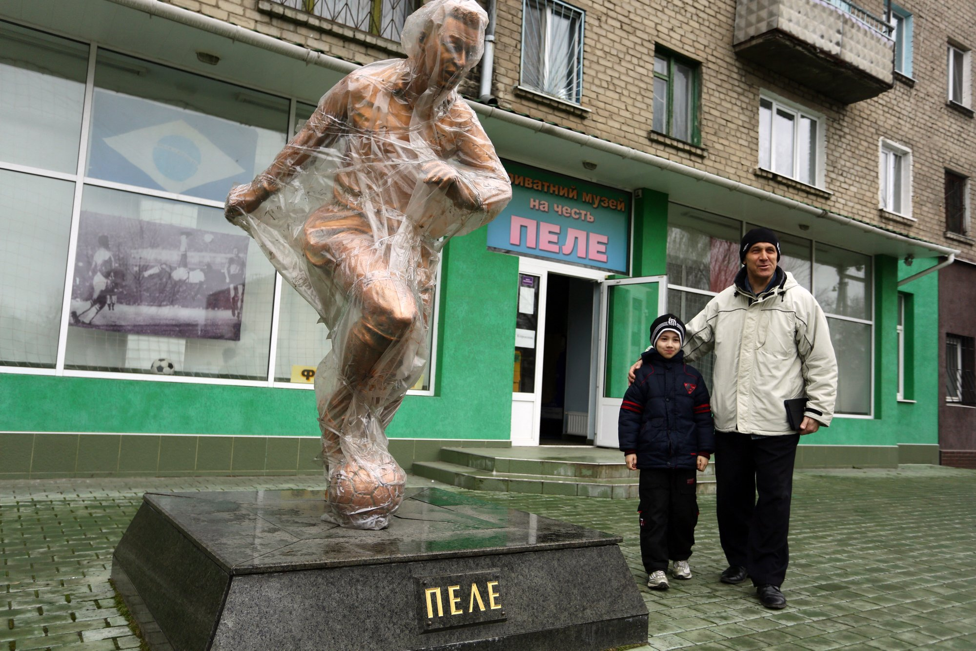 Les complices de Pelé prennent la pose avec l'idole, belga