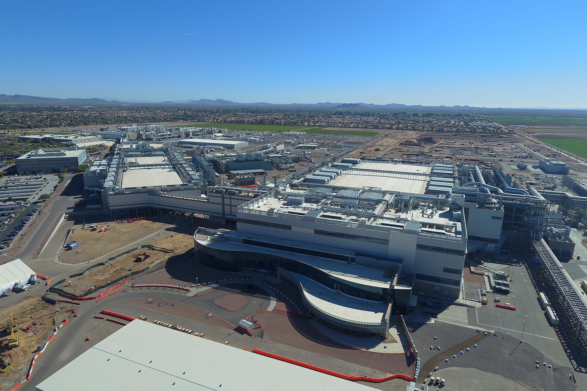 Intel's huidige chipfabriek in Ocotillo, Arizona, opende in 2020 de deuren en krijgt binnenkort al stevige uitbreiding., Intel