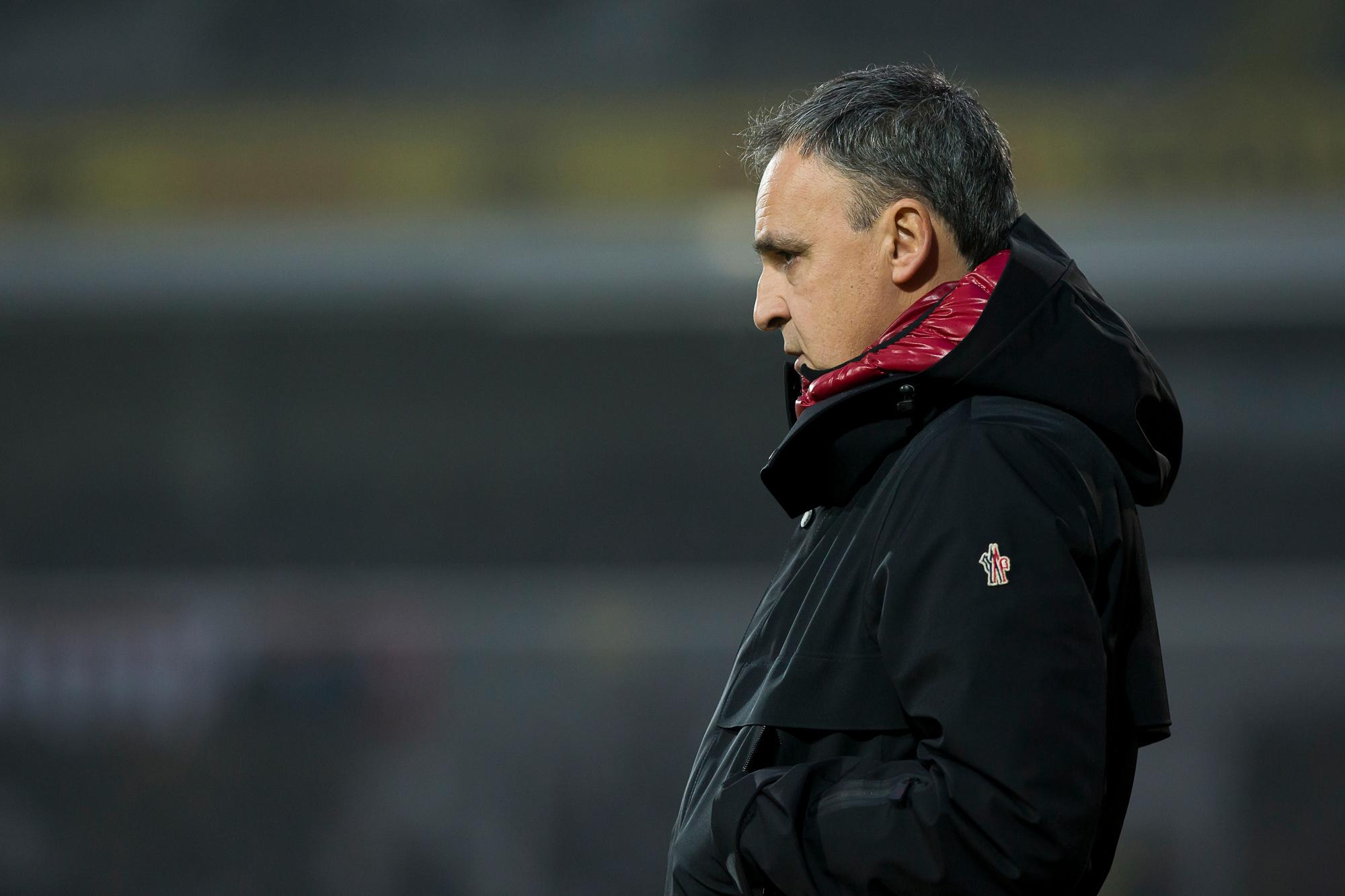 L'ancien adjoint du Standard a pris les rênes du club sérésien cette saison., belga