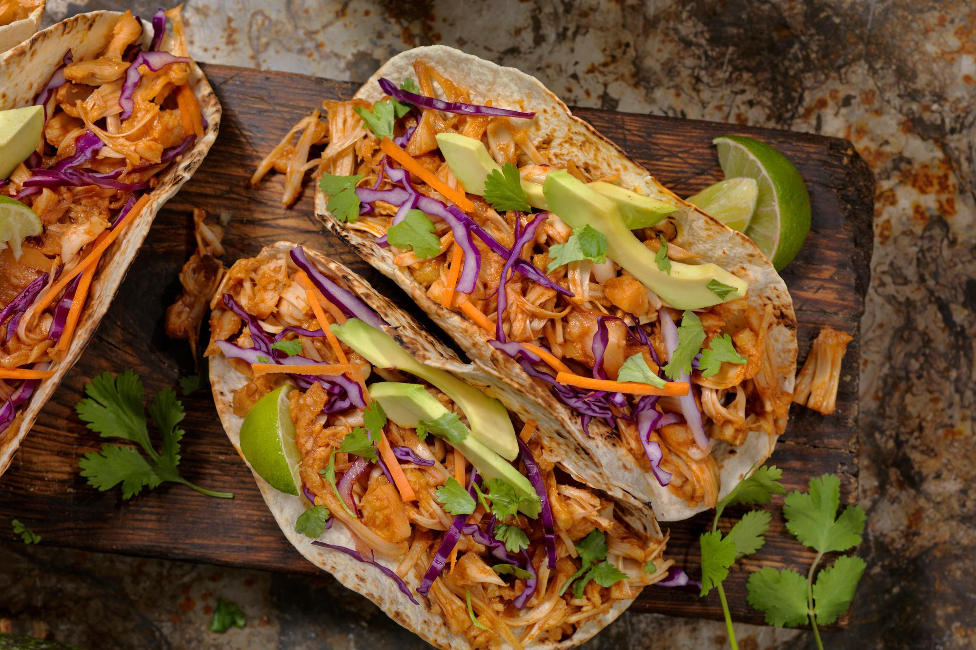 Tacos d'effilochés de porc au jaque, Getty Images