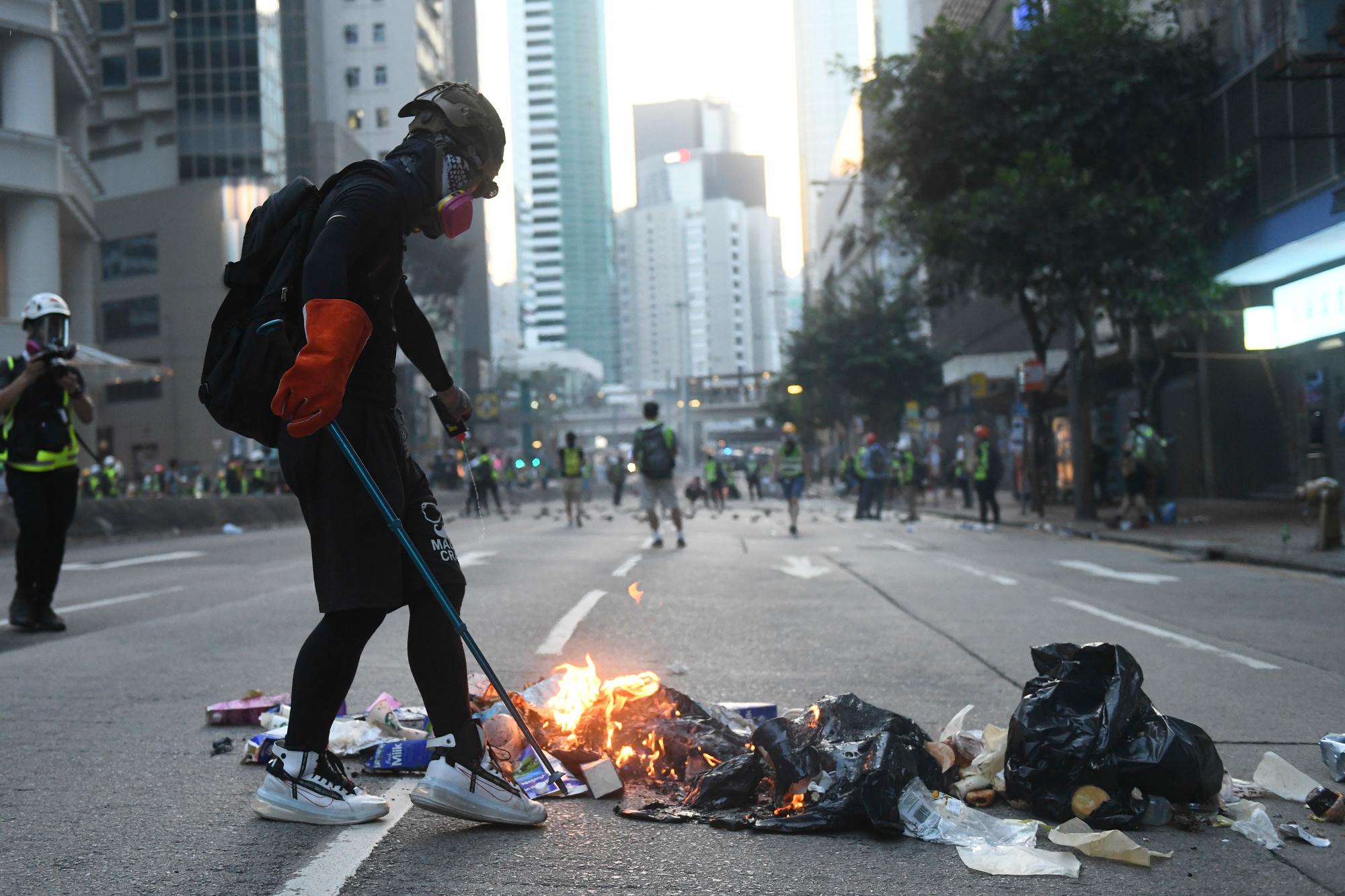 Manifestation anti-chinoise en 2019 à Hong Kong., Belga