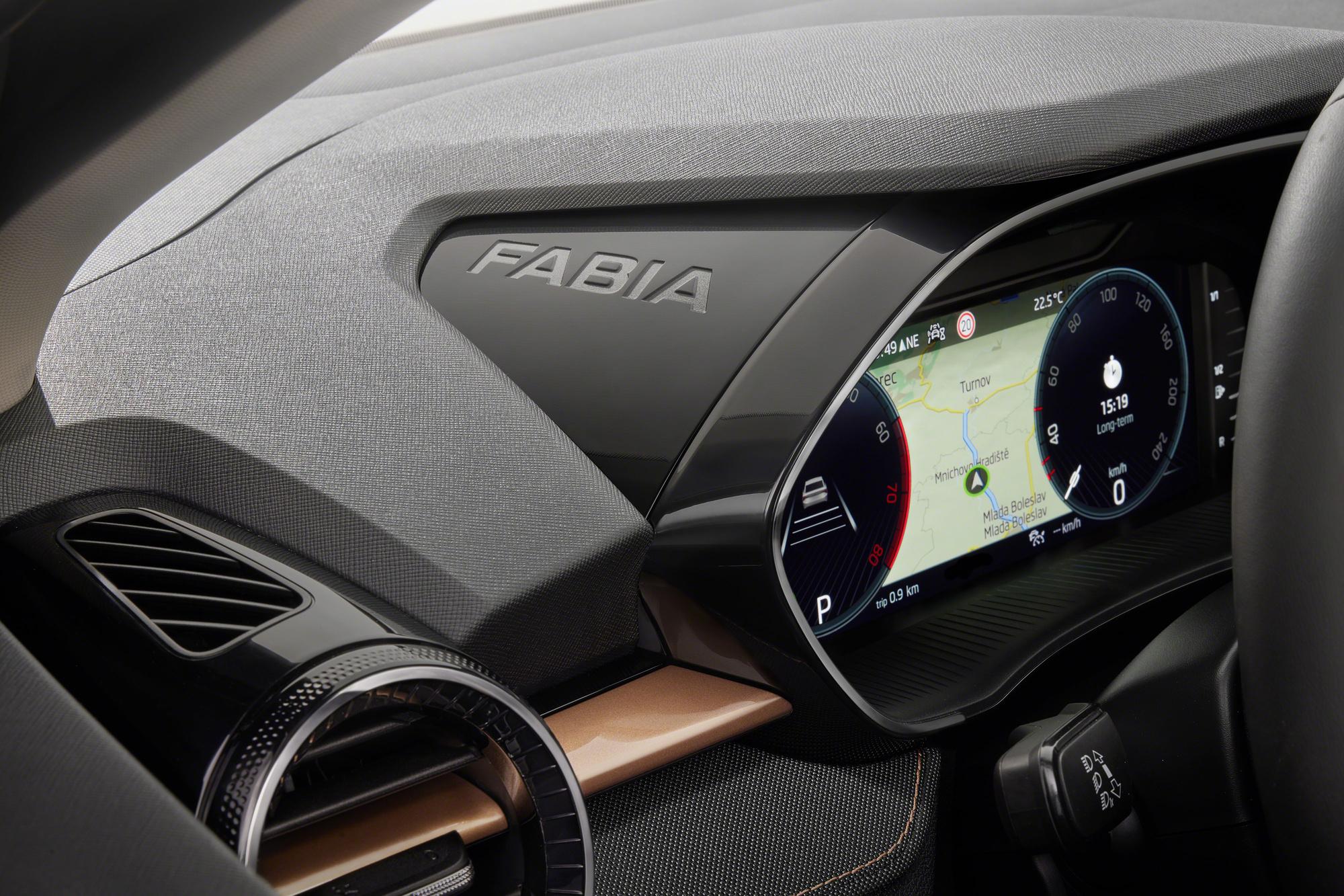 La petite Skoda a droit aux évolutions technologiques dernier cri, comme un tableau de bord numérique. , GF
