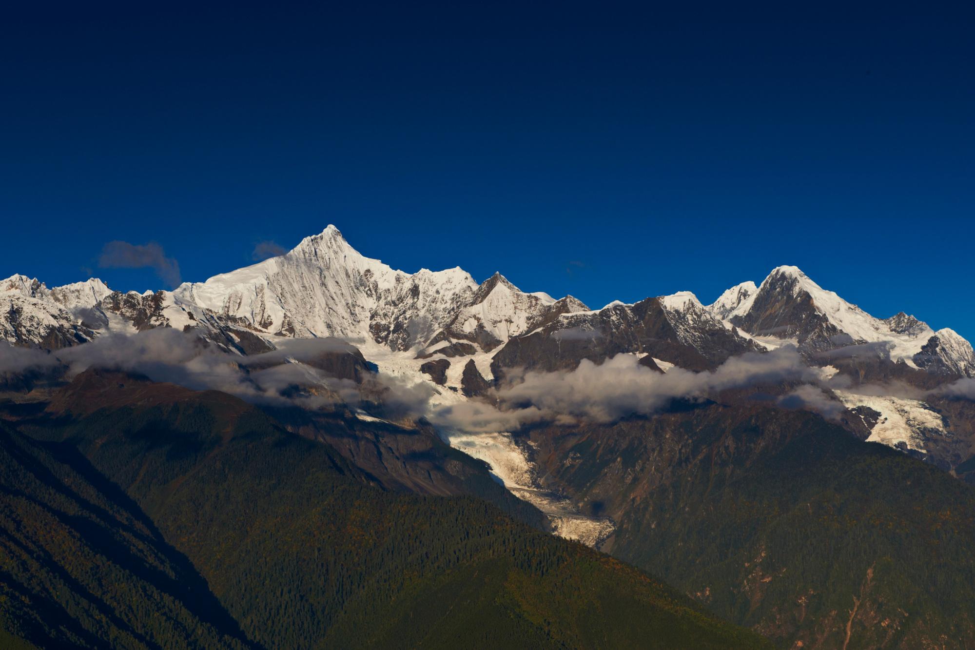 Kawa Garbo-massief in Tibet, het vertrekpunt van de reis, Getty Images