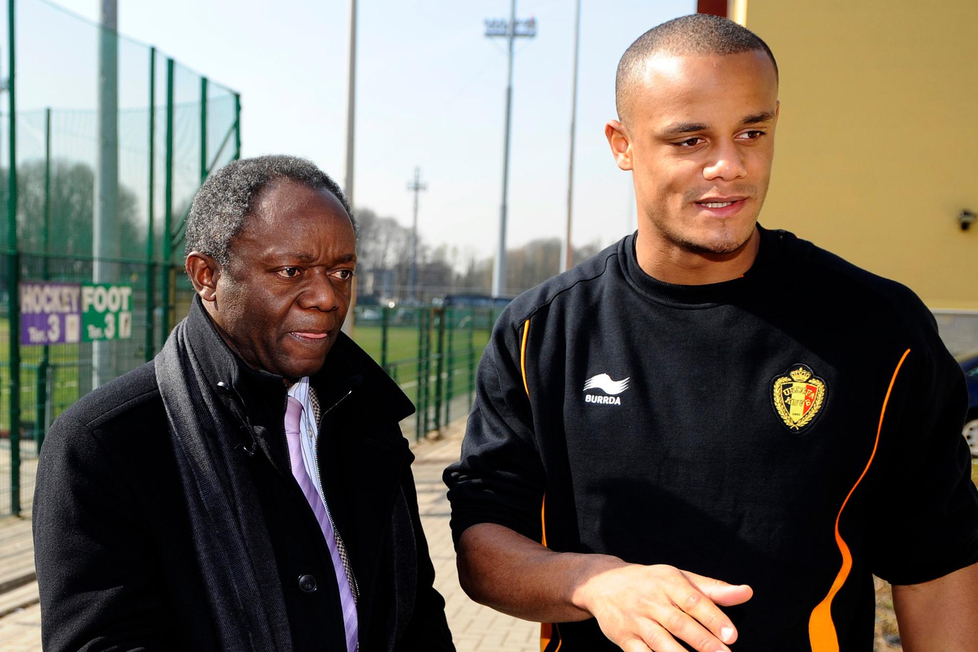 Vincent Kompany met zijn vader Pierre, Belga Image