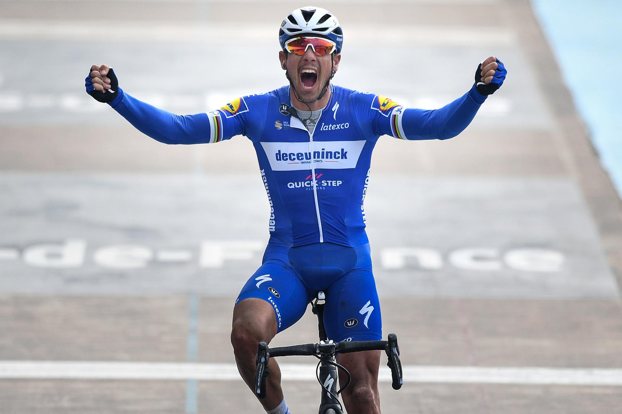 Lors de sa victoire à Roubaix., belga