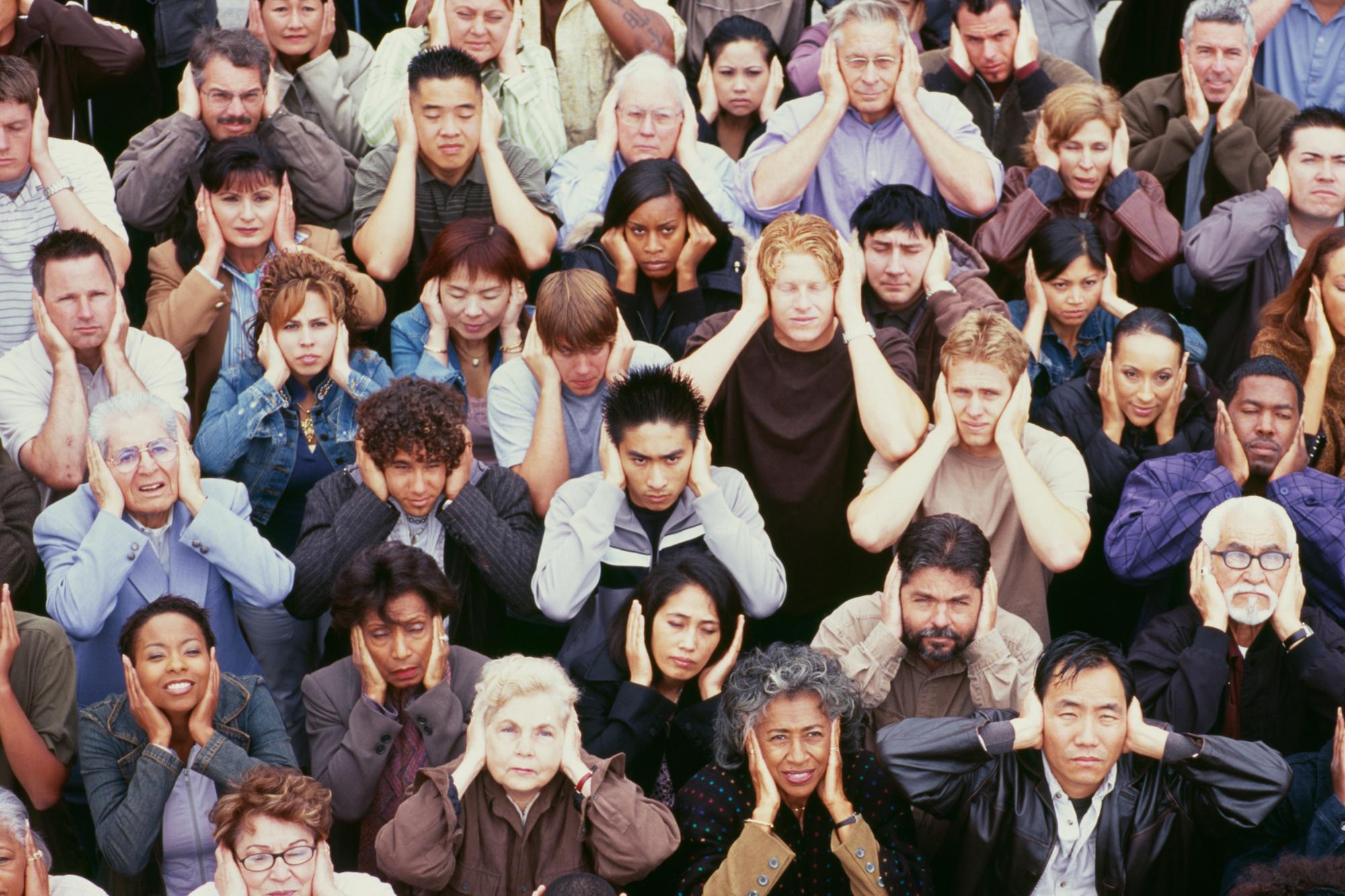 We leven met veel meer mensen op een kleinere oppervlakte, waardoor de nood aan stille ruimtes toeneemt., Getty Images